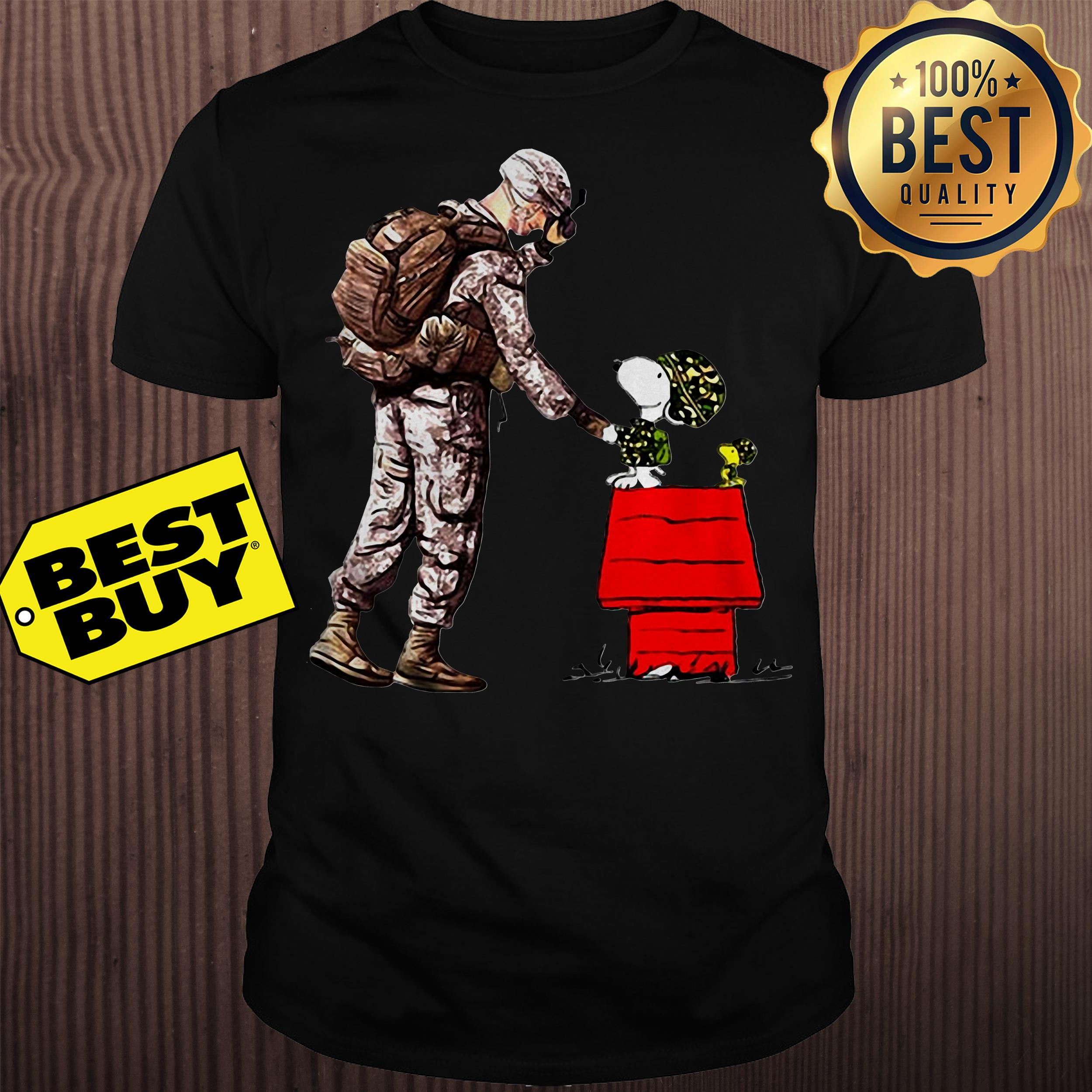 Soldier veteran and snoopy shirt