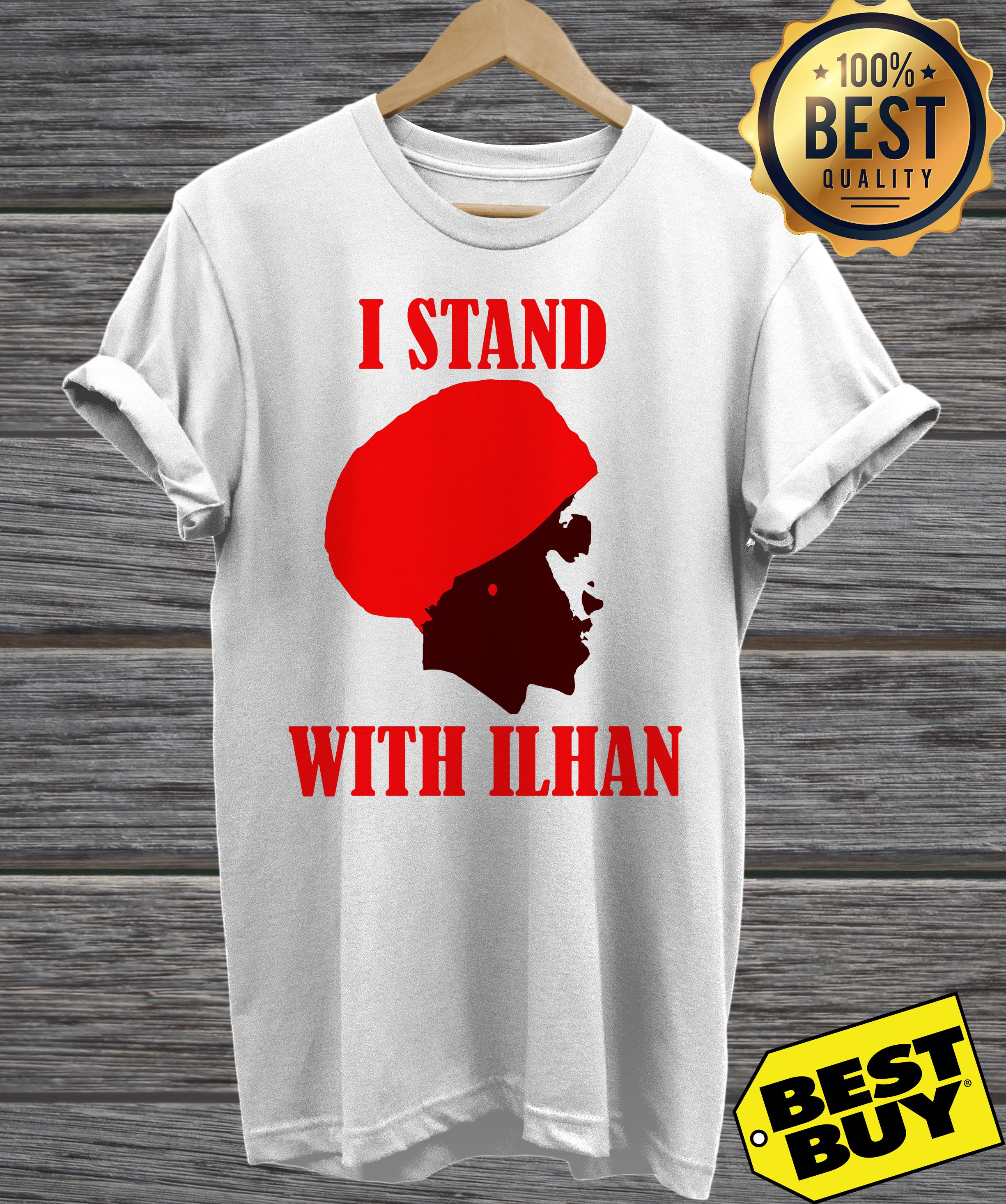 I Stand With Congresswoman Ilhan Omar ladies tee
