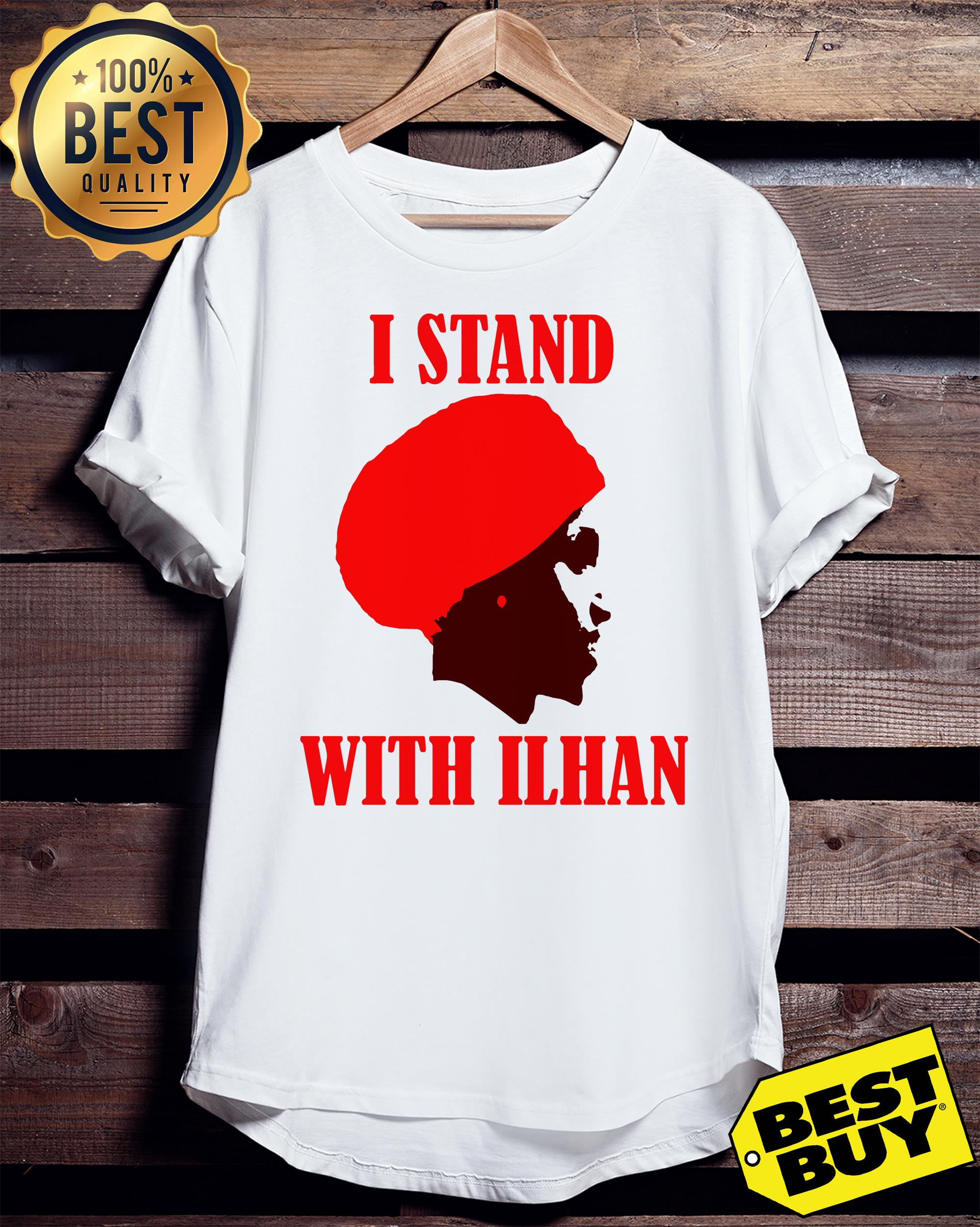 I Stand With Congresswoman Ilhan Omar v-neck