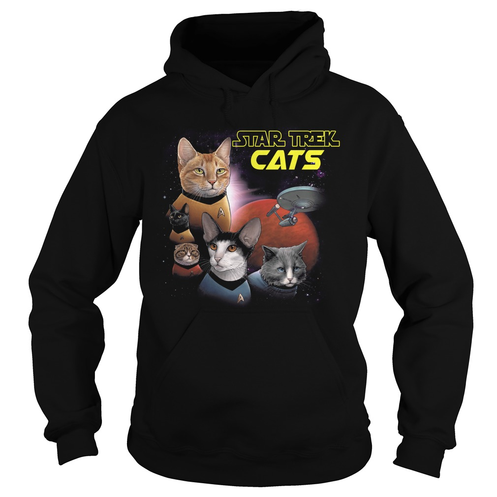 Star Trek Cats Books And Merch hoodie