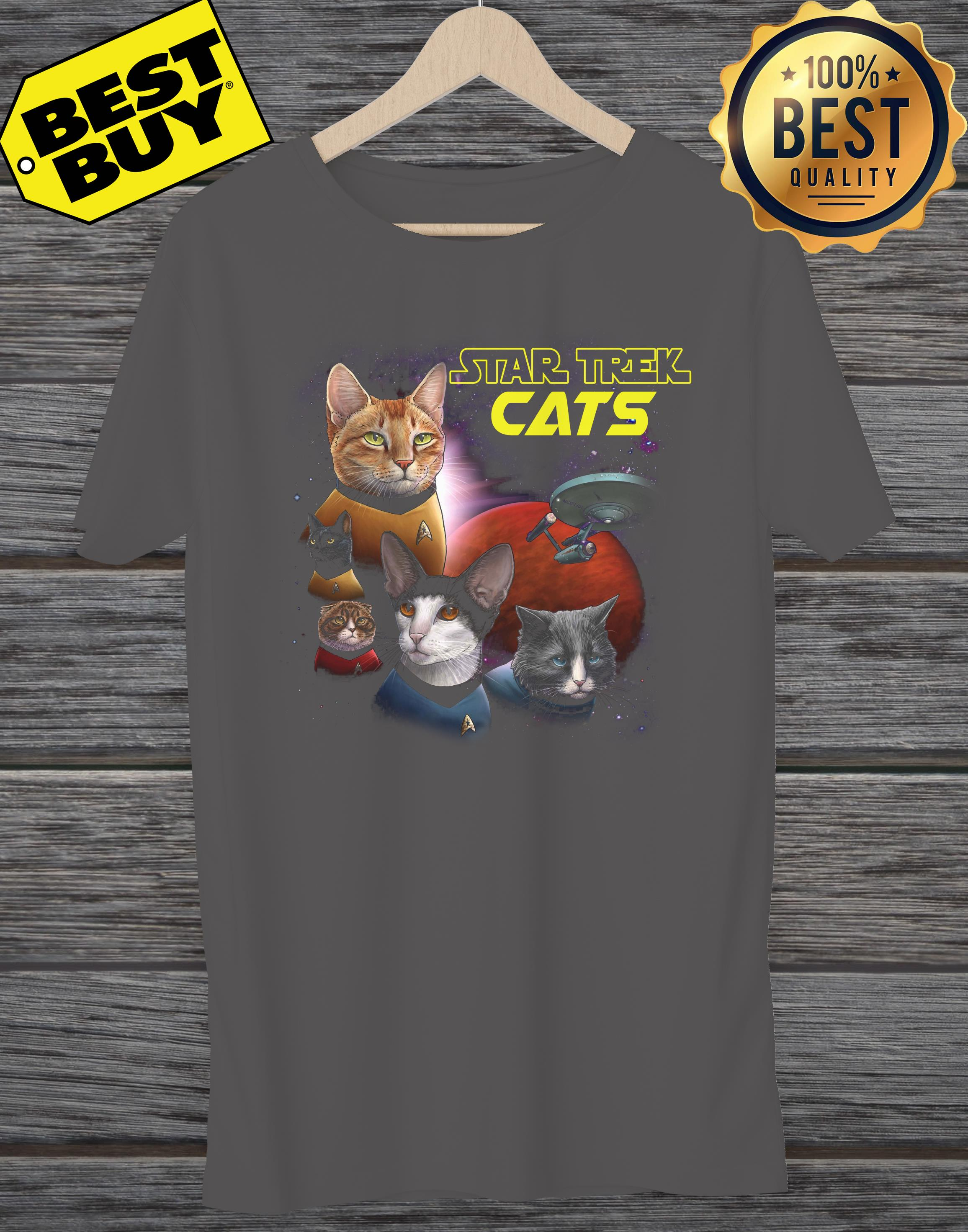 Star Trek Cats Books And Merch ladies tee