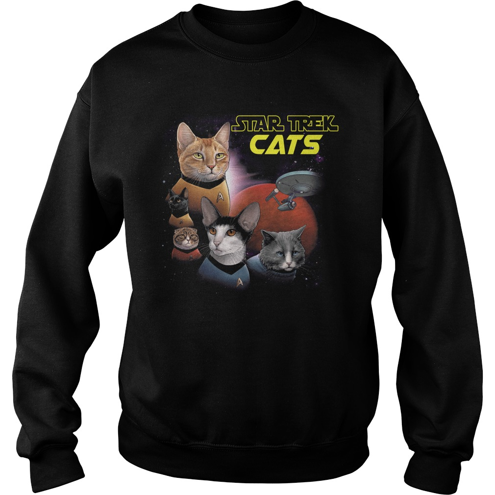 Star Trek Cats Books And Merch sweatshirt