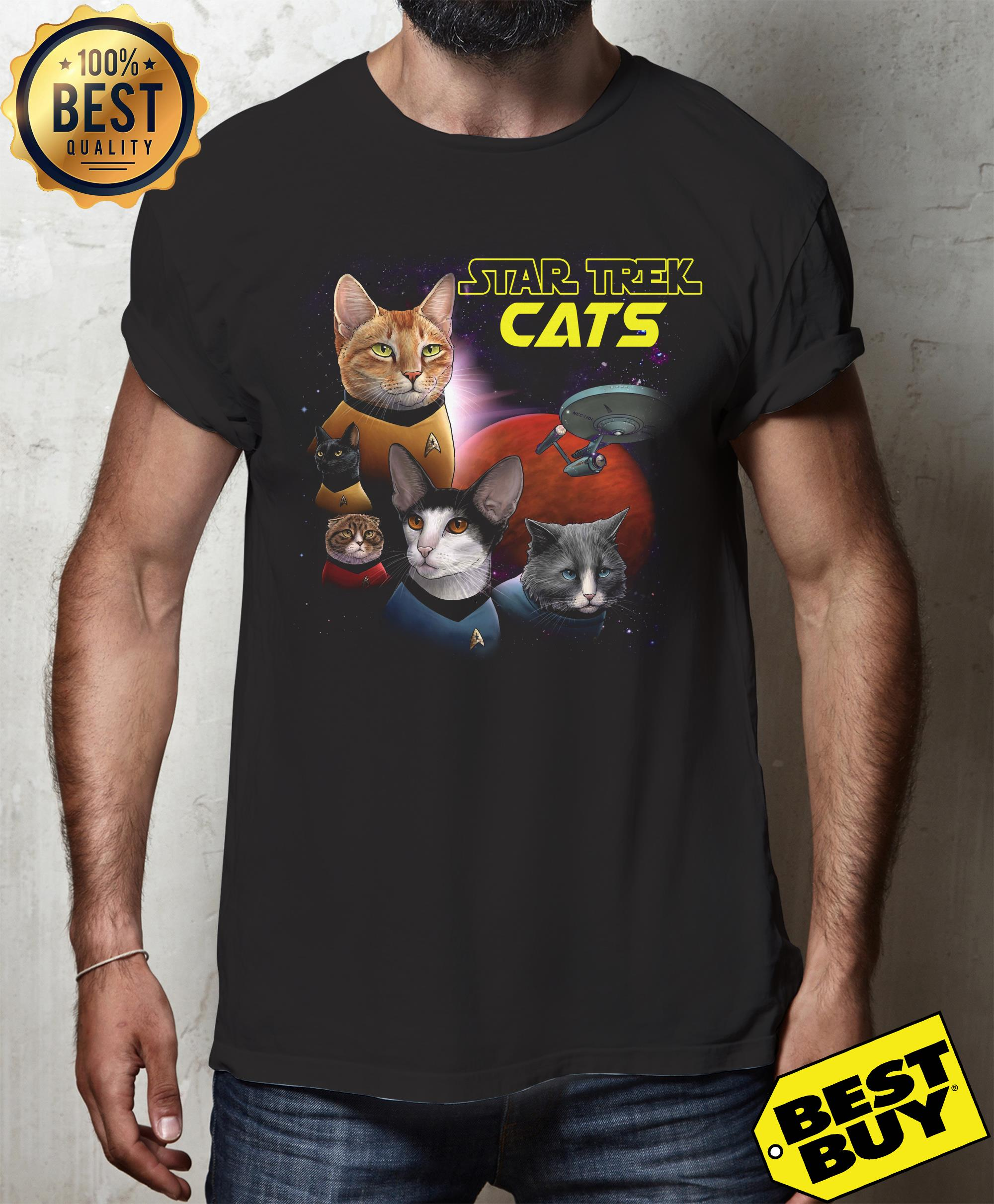 Star Trek Cats Books And Merch v-neck