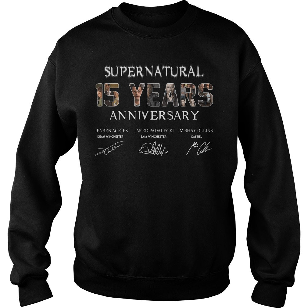 Supernatural 15 Years Anniversary All Signatures sweatshirt