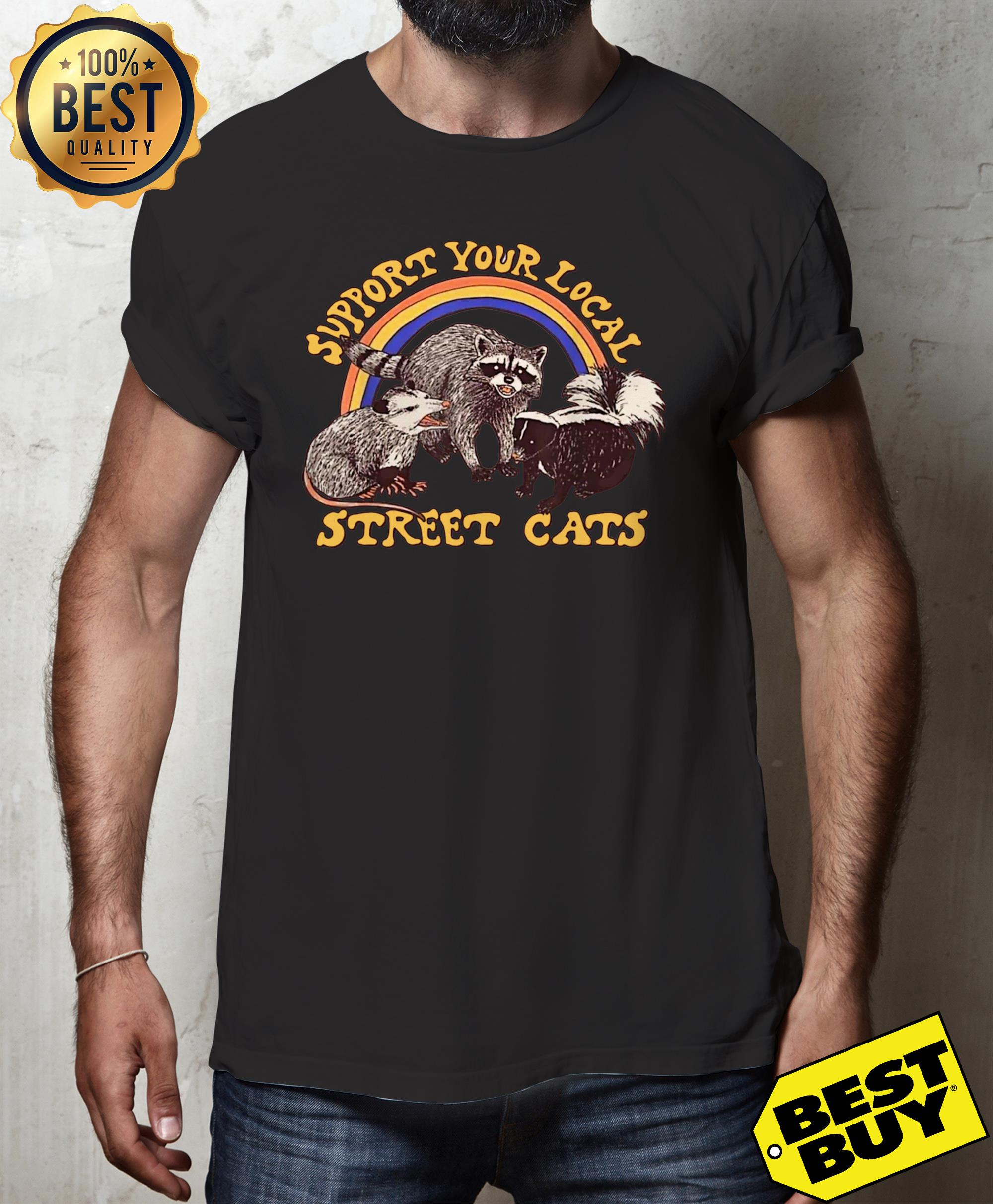 Support your local street cats v-neck