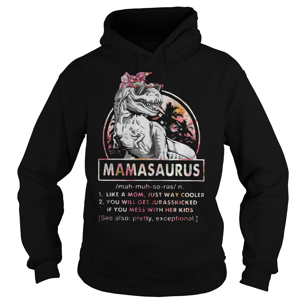 T Rex Mamasaurus definition Like a mom just way cooler you will get jurasskied hoodie