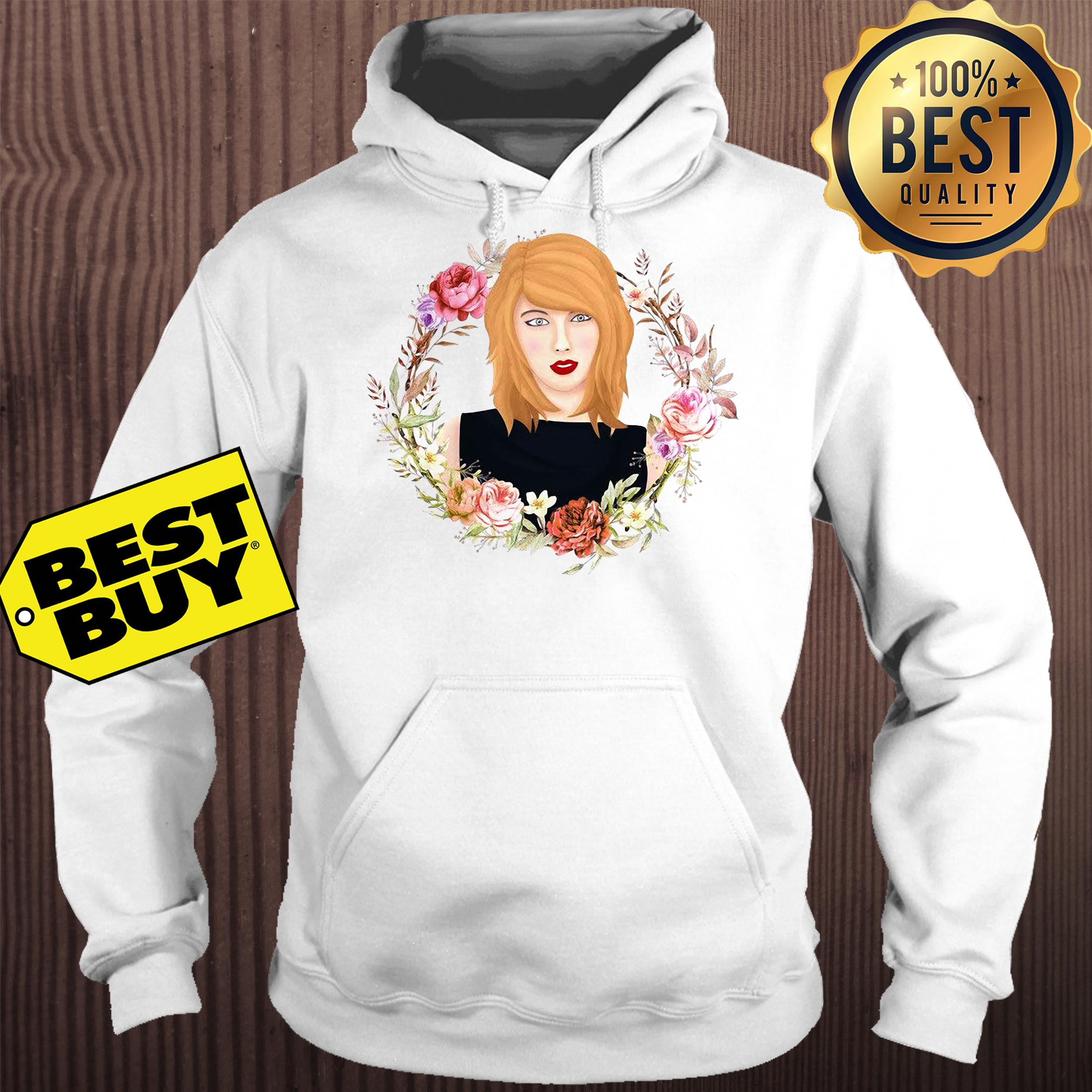 Taylor Swift flowers watercolor hoodie