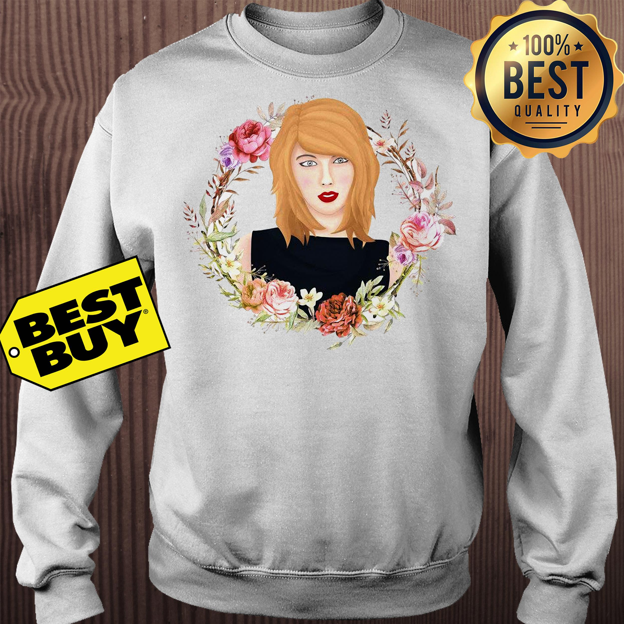 Taylor Swift flowers watercolor sweatshirt