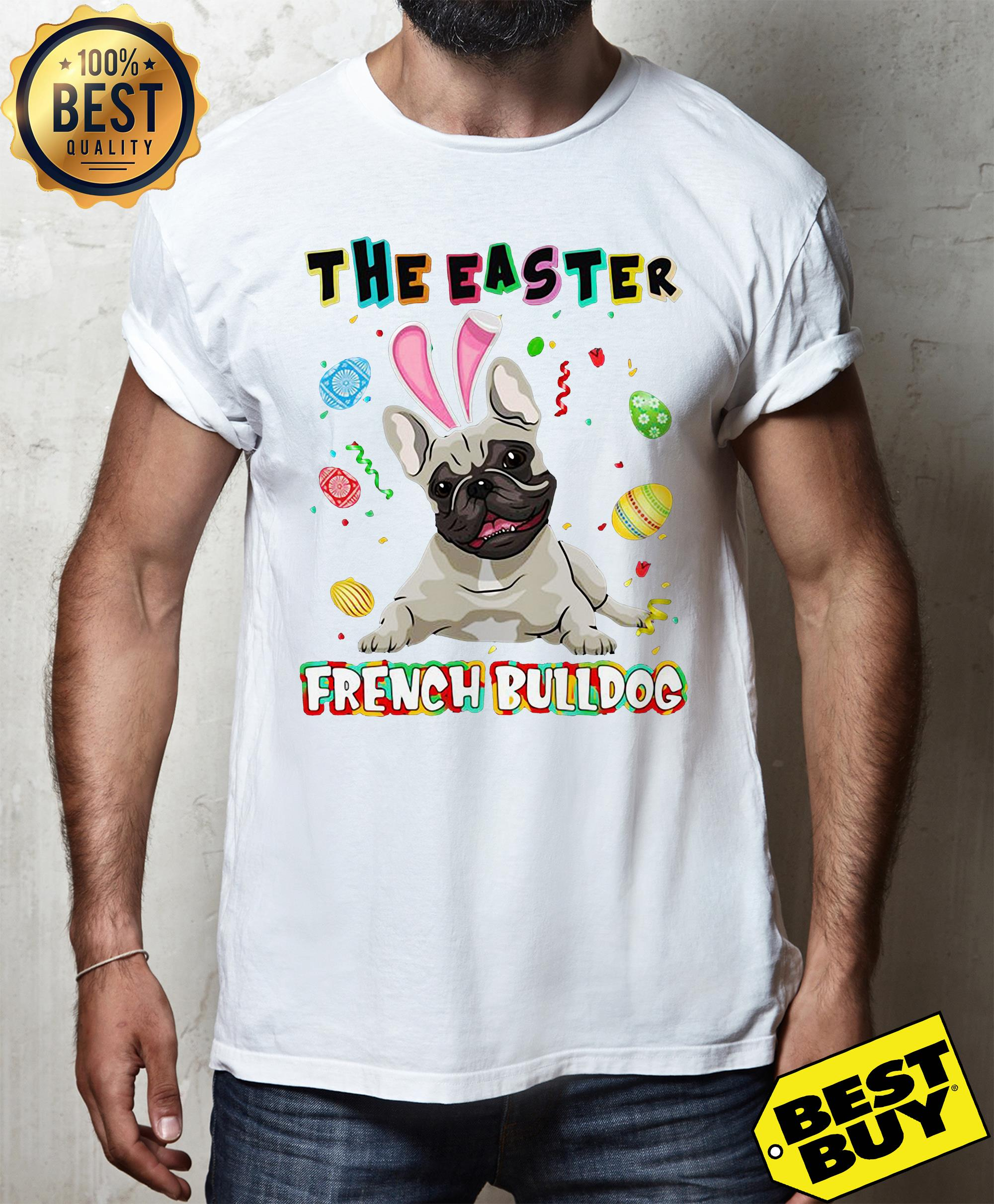 The easter french bulldog tank top