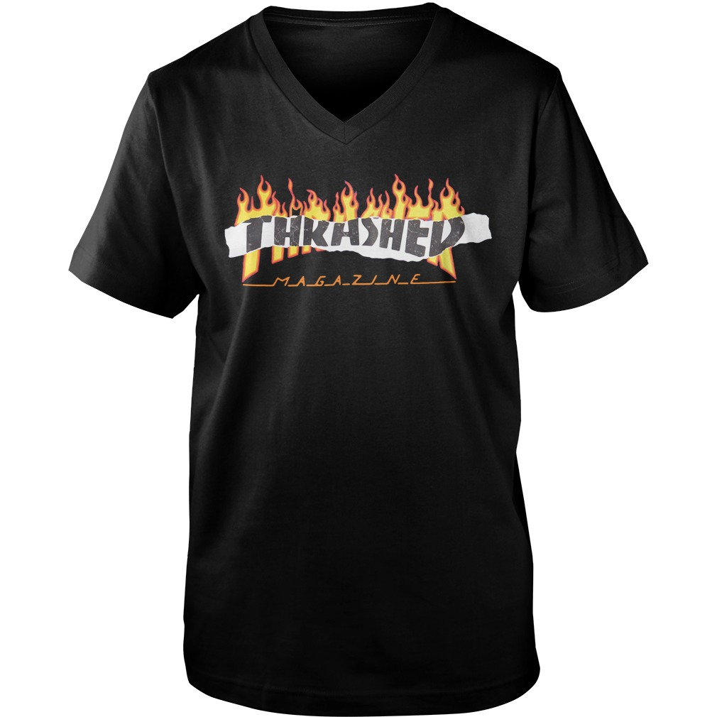 Thrasher Magazine Richter fire v-neck