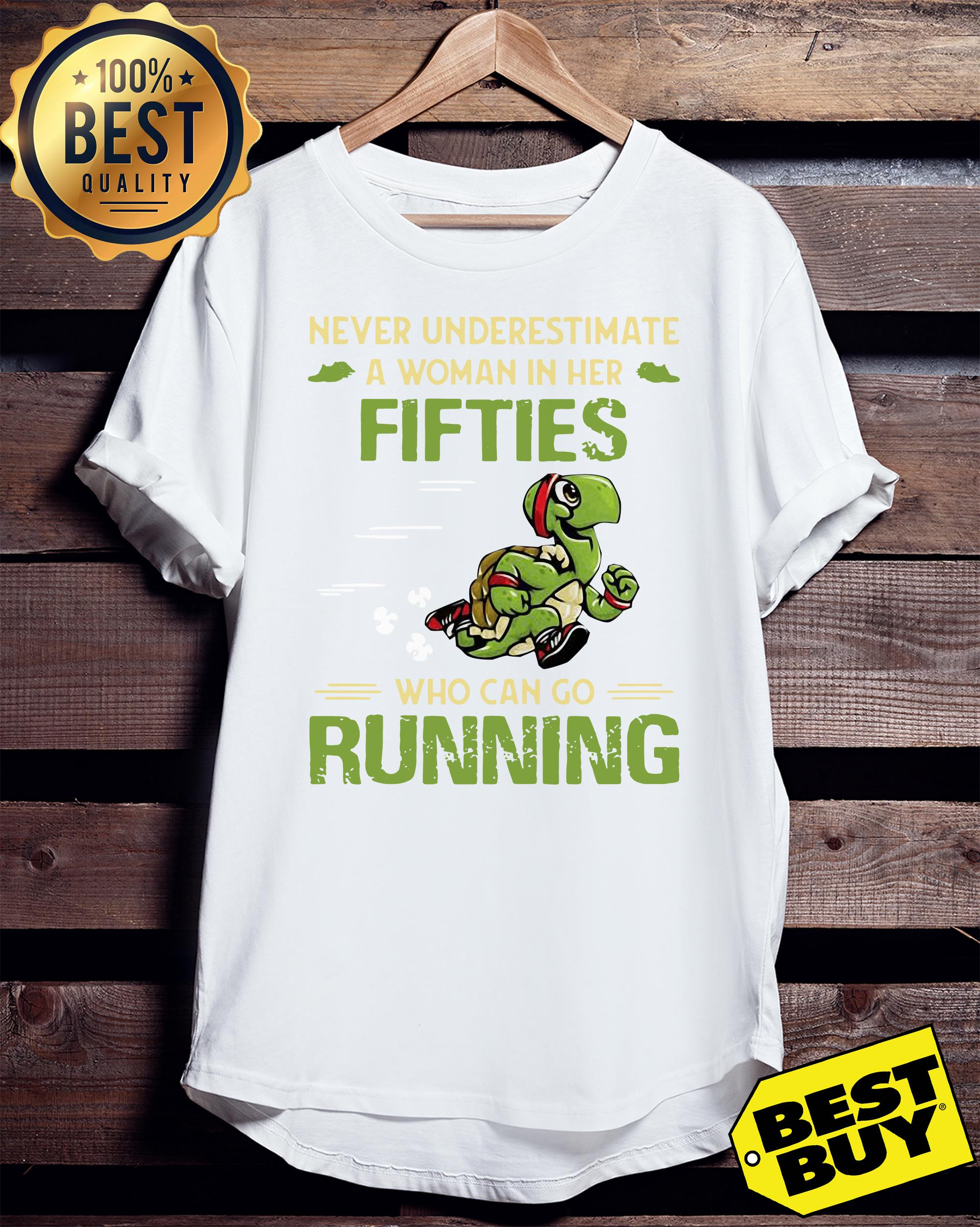 Turtles never underestimate fifties who can go running hoodie
