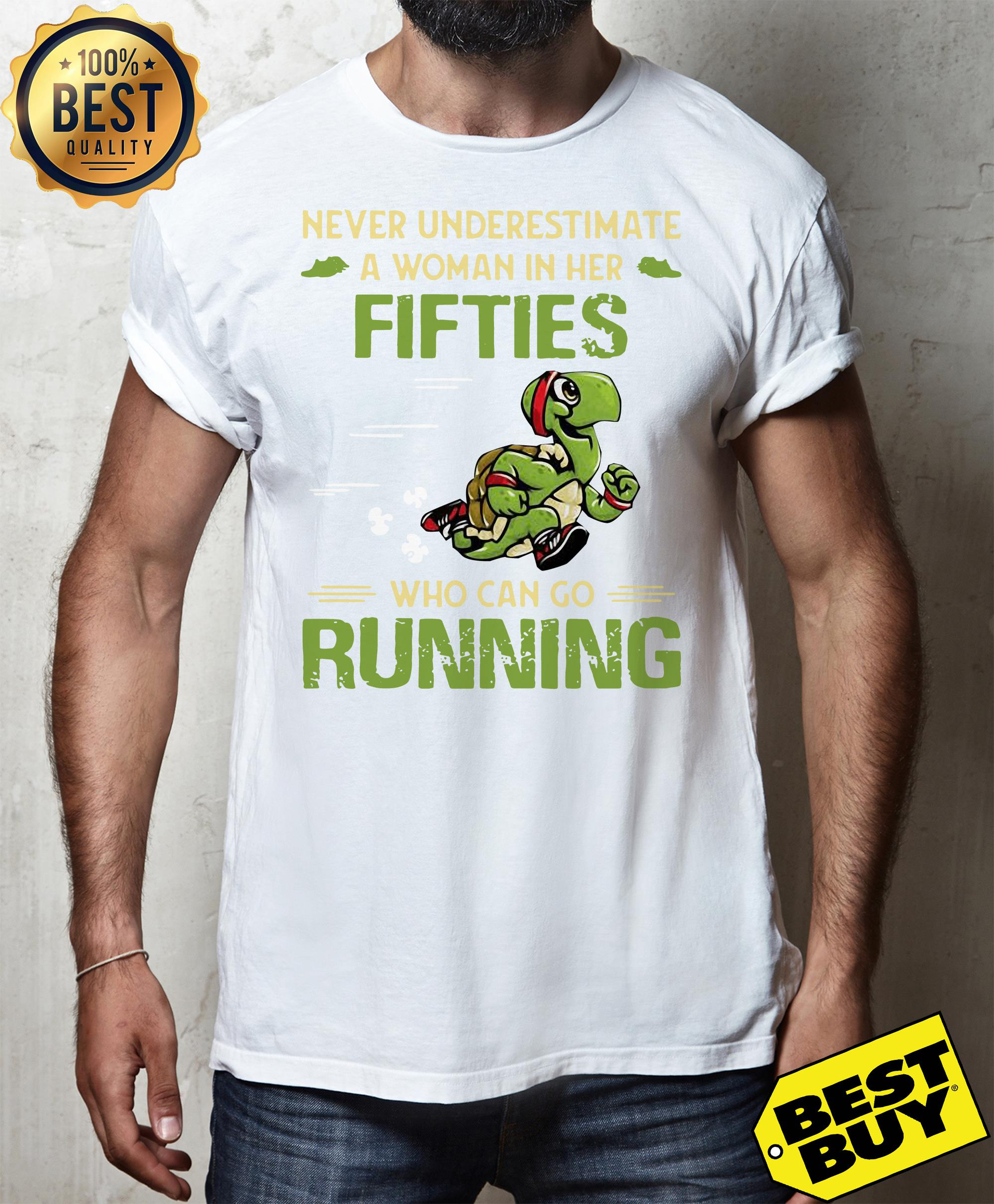 Turtles never underestimate fifties who can go running v-neck