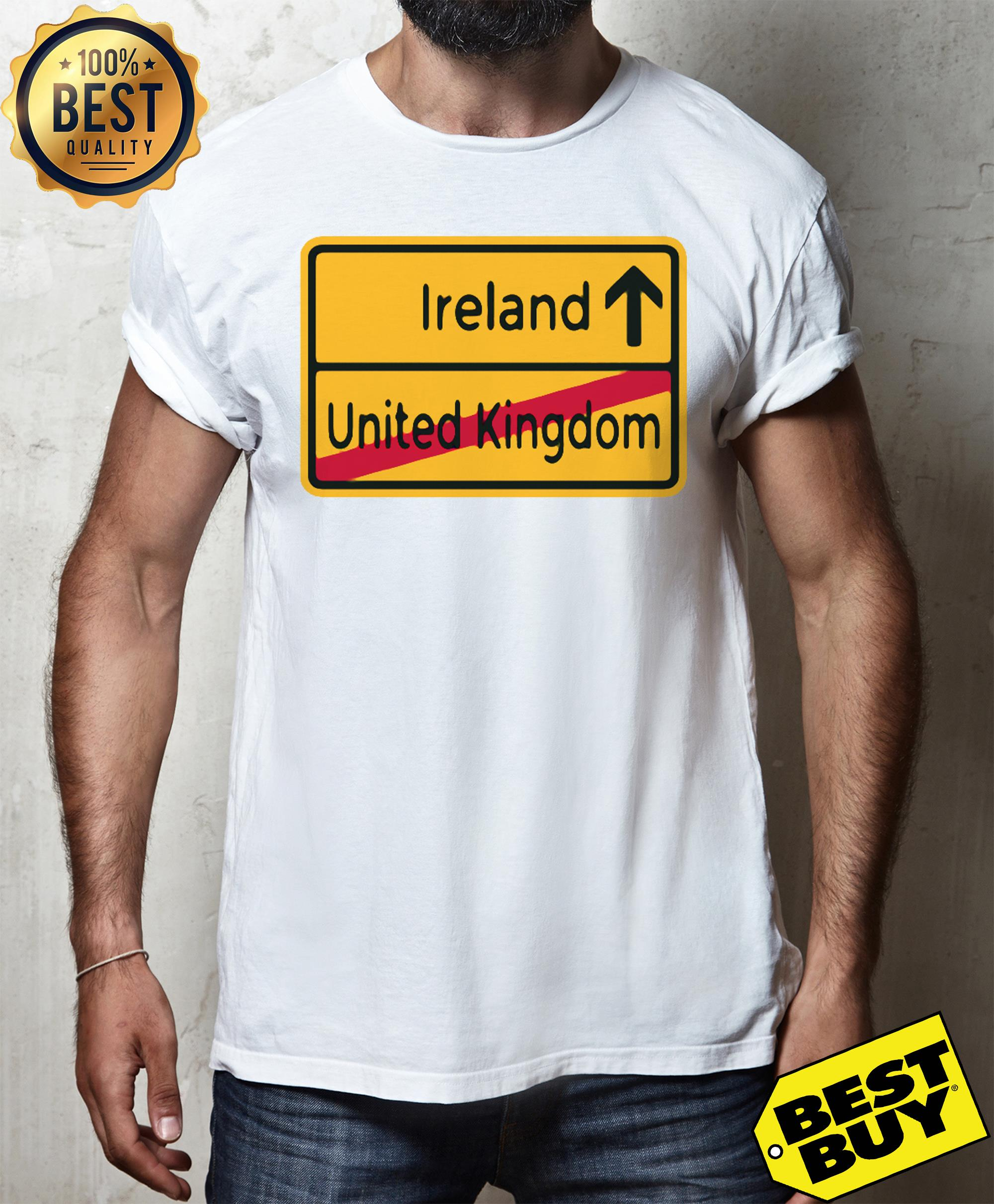 United Kingdom to Ireland Brexit Sign tank top