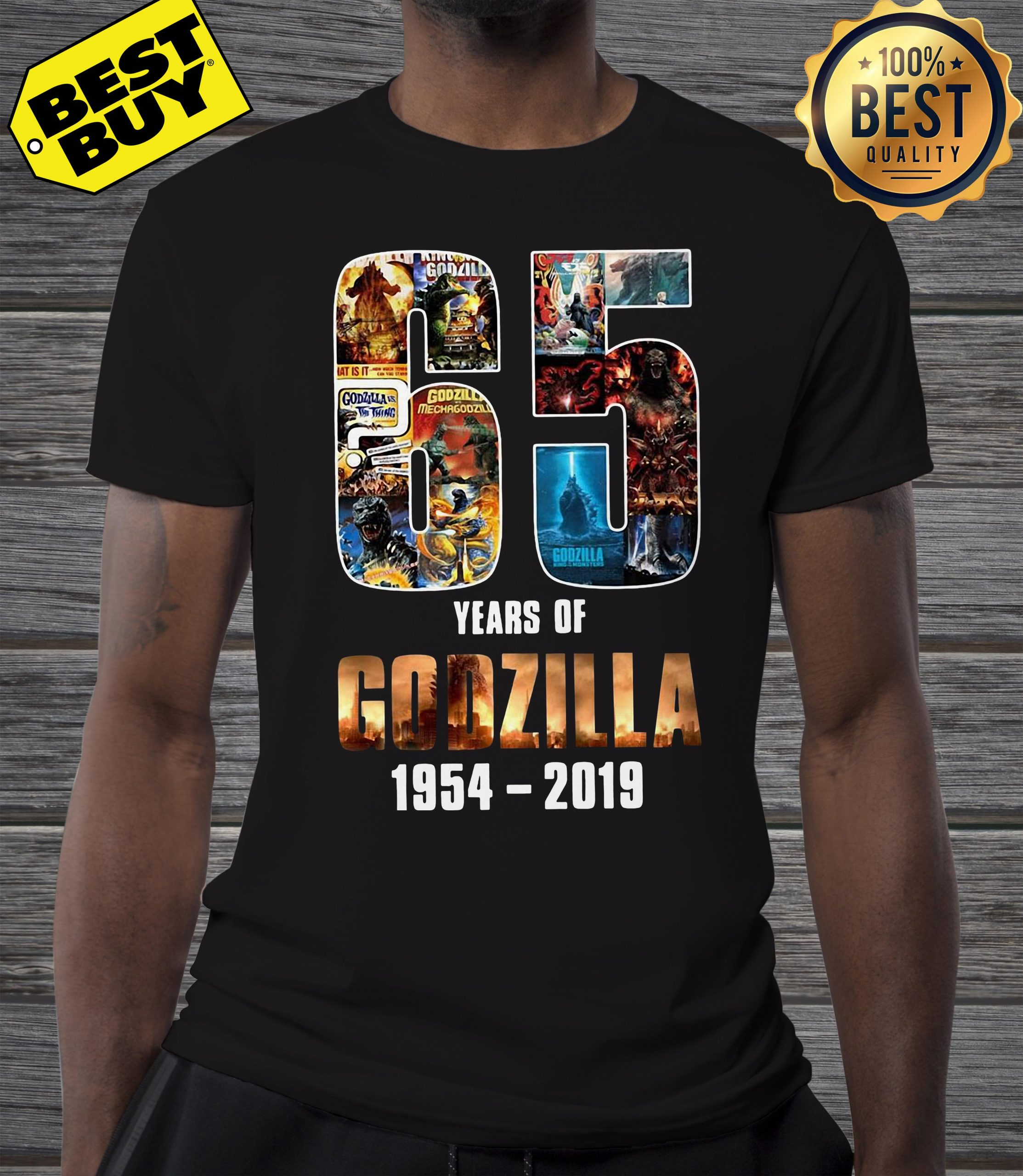 65 years of Godzilla King of the Monsters 1954-2019 shirt