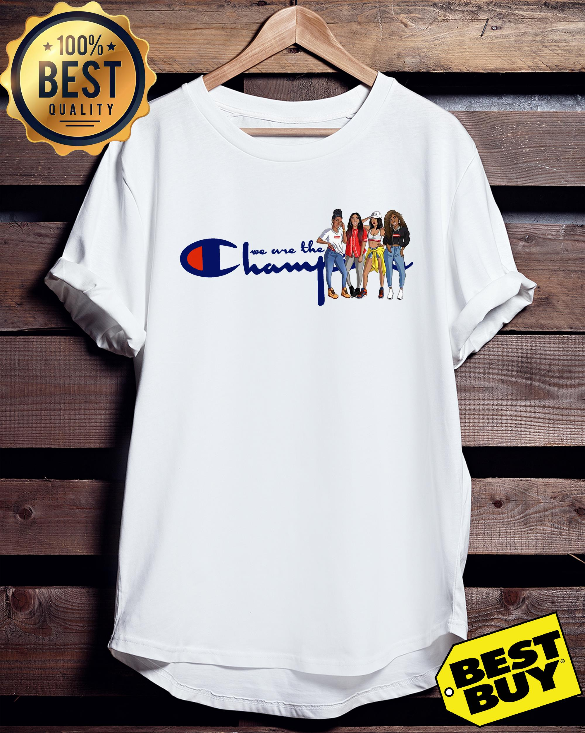 African American girl we are the champions ladies tee