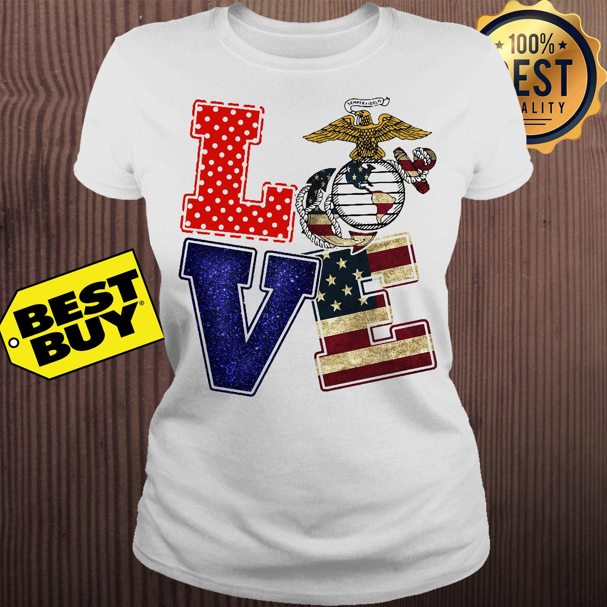 American Eagle Love Freedom ladies tee