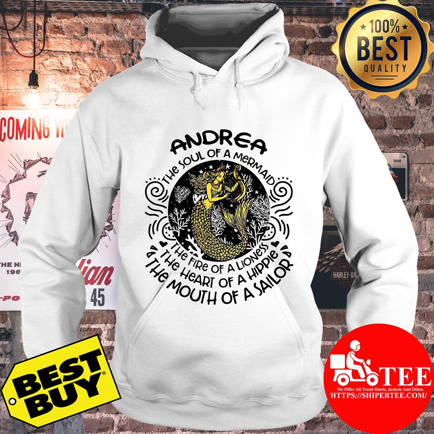 Andrea the soul of mermaid the fire of a lioness hoodie