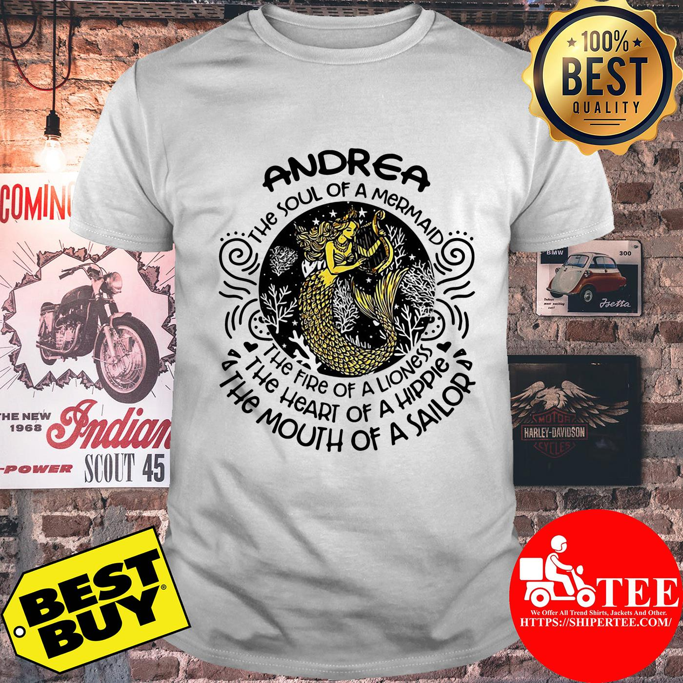 Andrea the soul of mermaid the fire of a lioness shirt