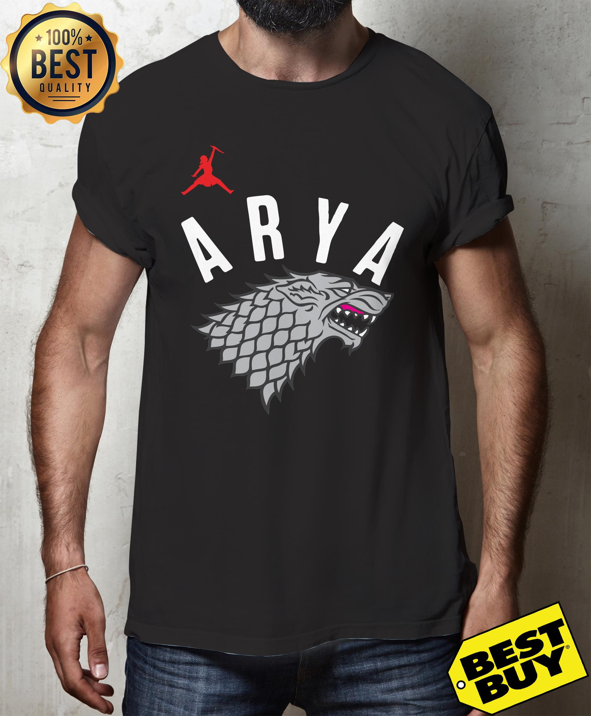 Arya Stark Game of Thrones Silver Foil hoodie