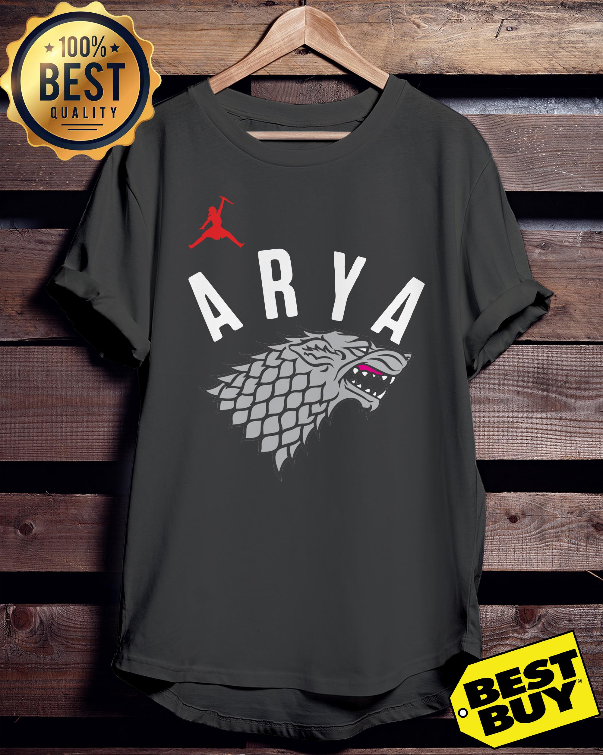 Arya Stark Game of Thrones Silver Foil ladies tee