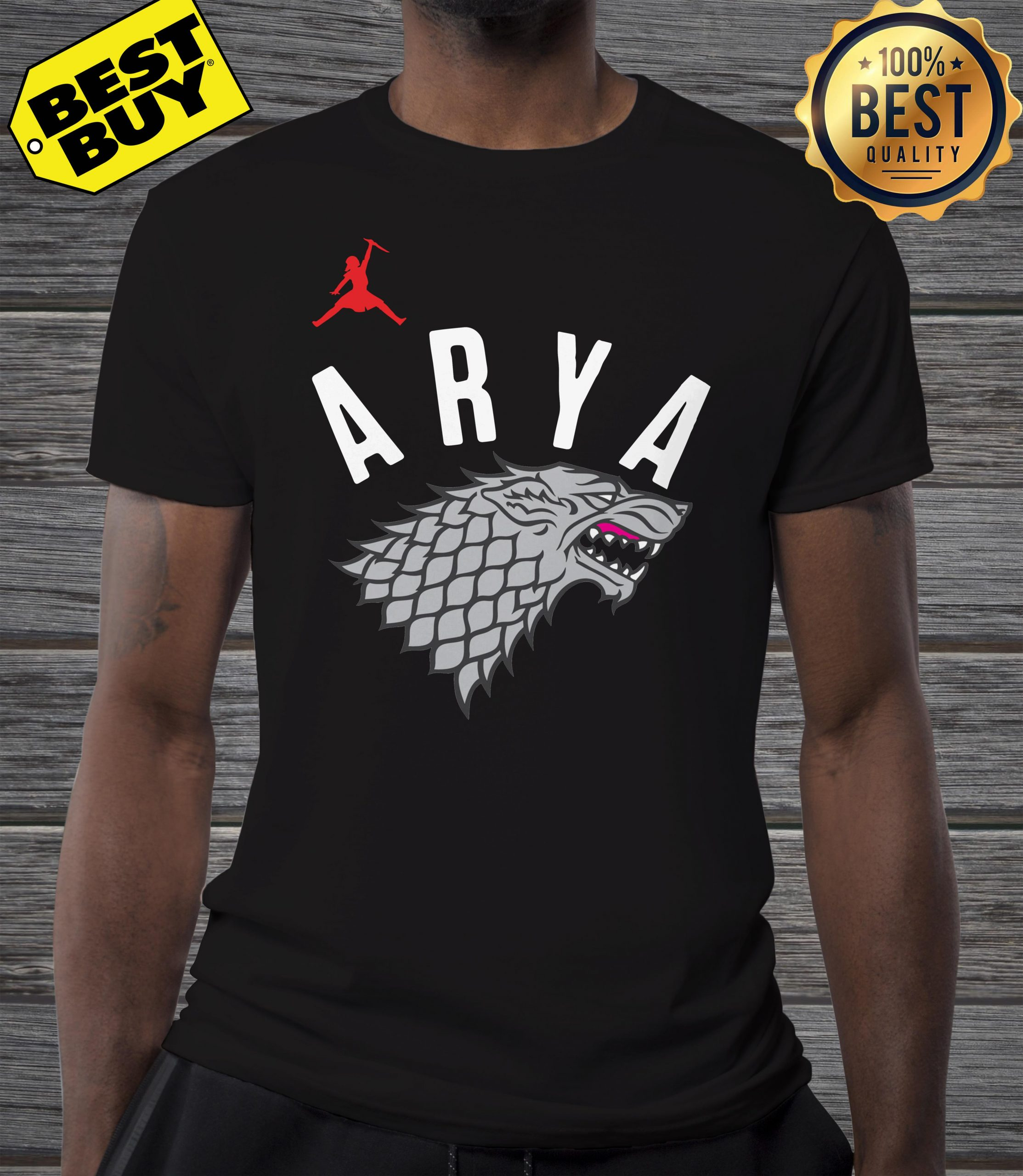 Arya Stark Game of Thrones Silver Foil Shirt