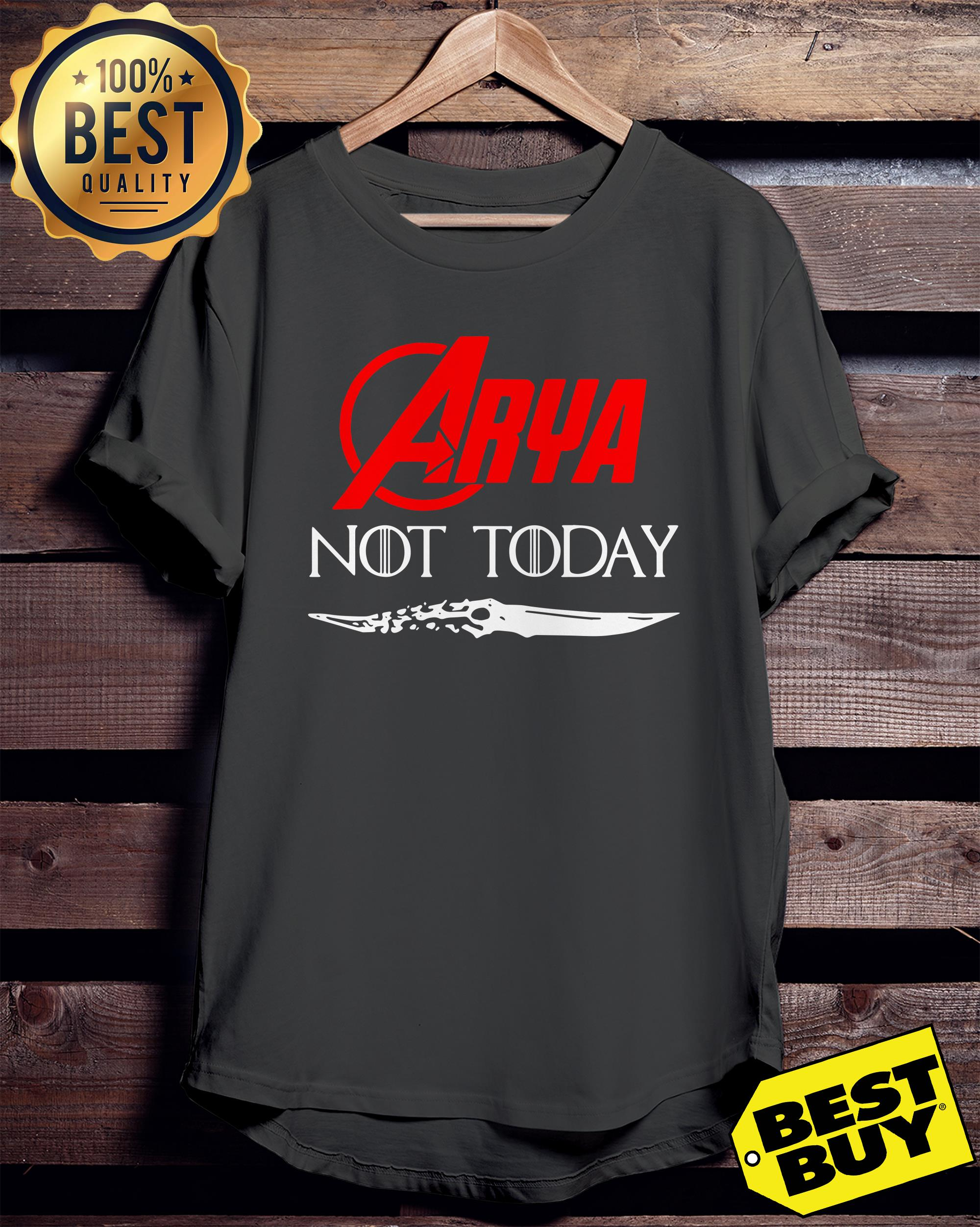 Arya Stark not today Game of Thrones ladies tee