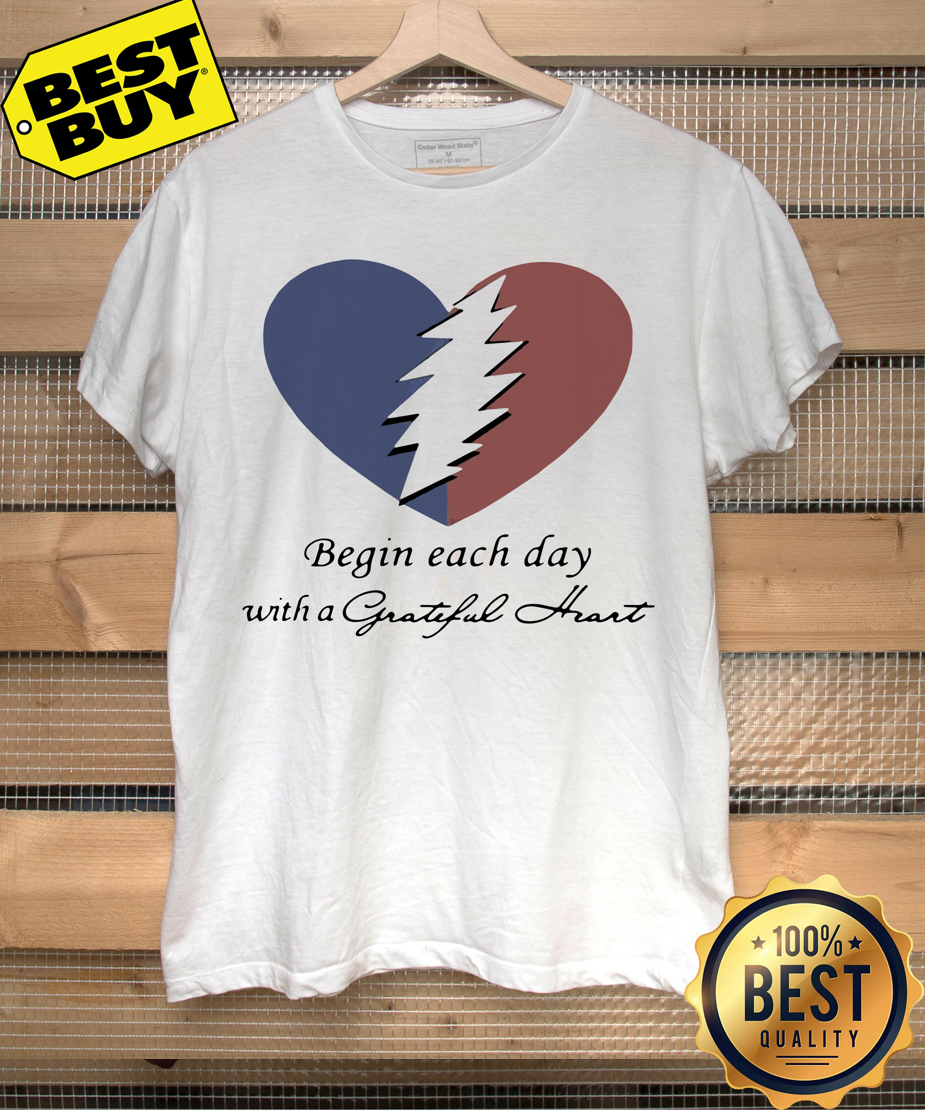 Begin each day with a grateful heart hoodie