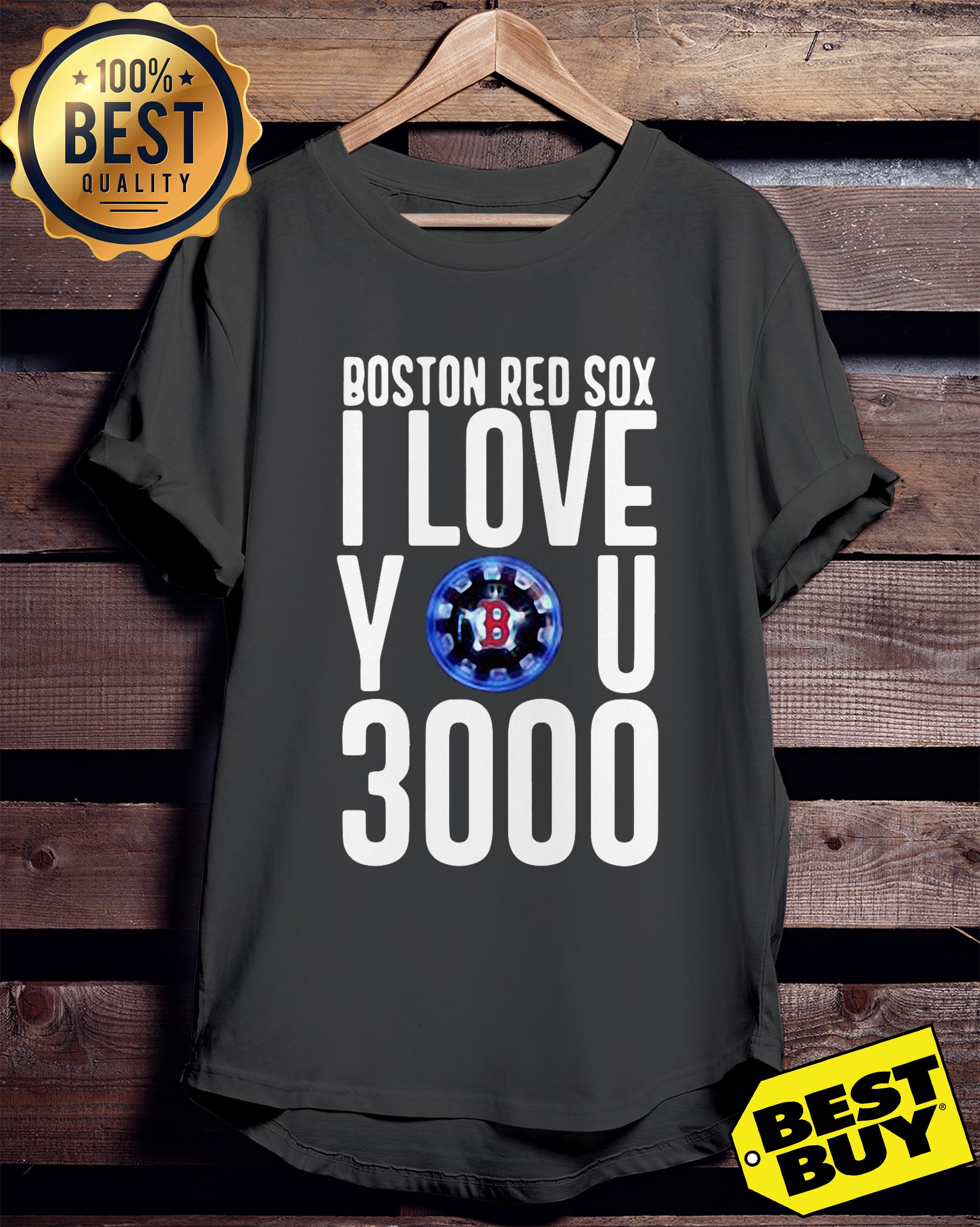 Boston red sox I love you 3000 ladies tee
