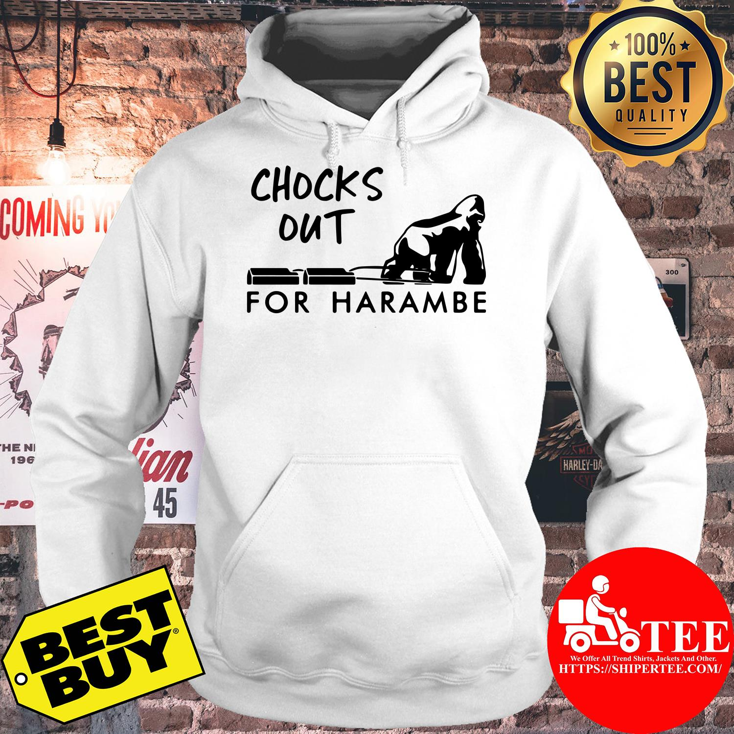 Chocks out for harambe gorilla hoodie