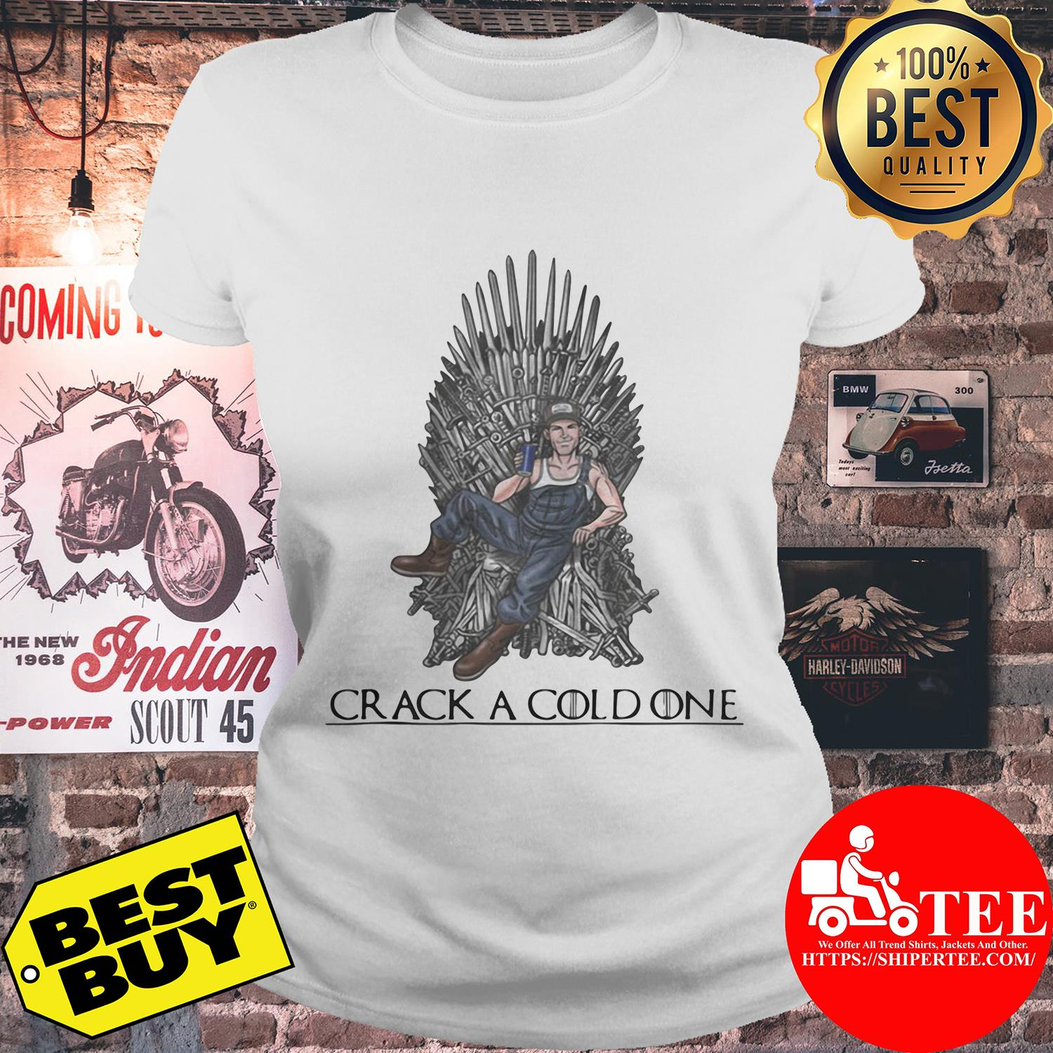 Crack a cold one Game of Thrones ladies tee