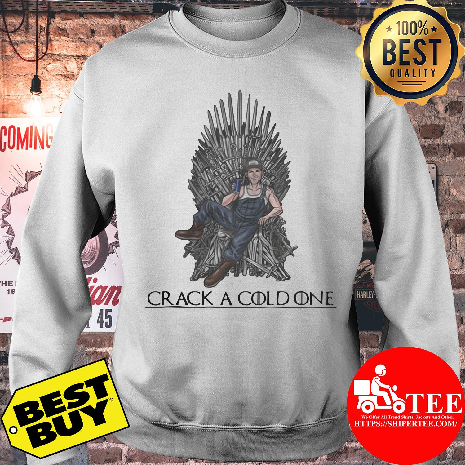 Crack a cold one Game of Thrones sweatshirt