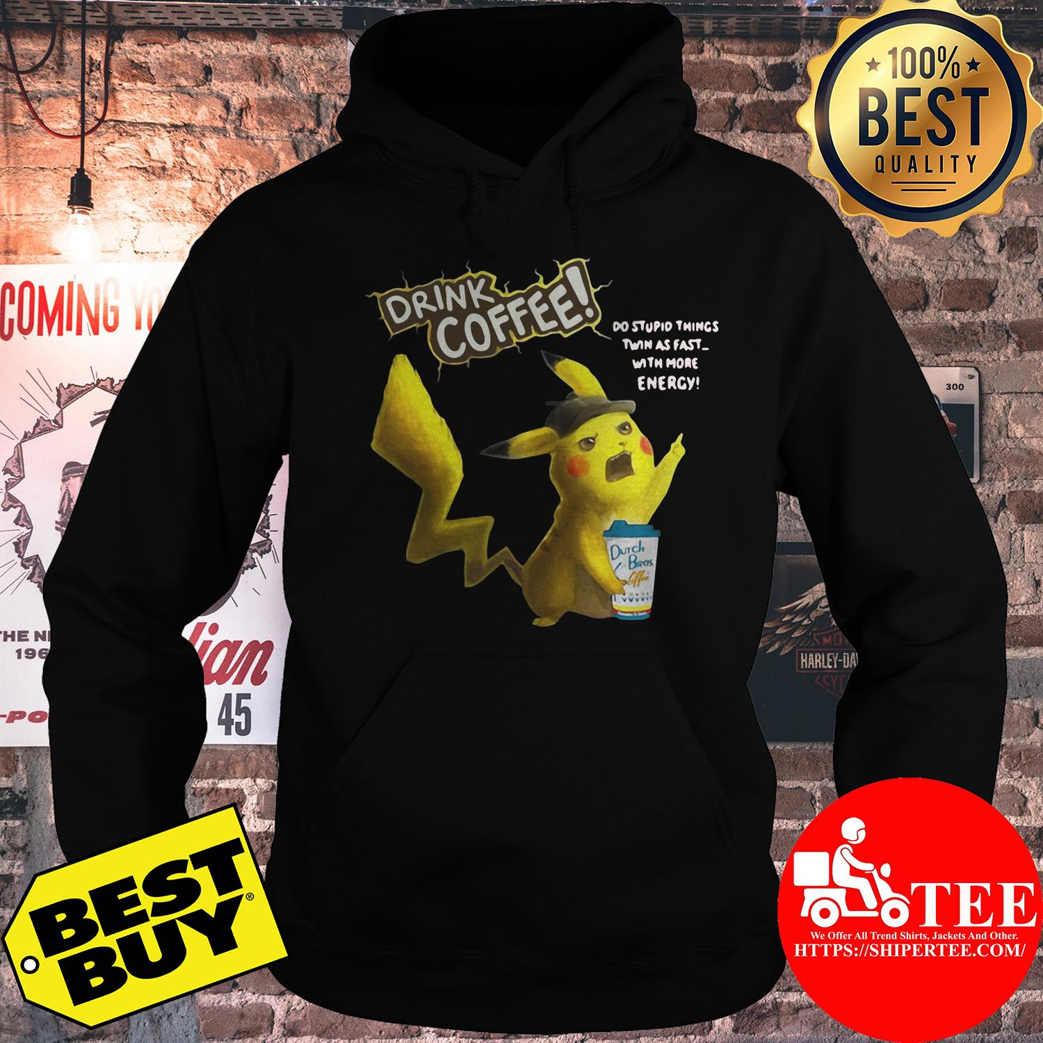 Drink coffee do stupid things twin as fast hoodie