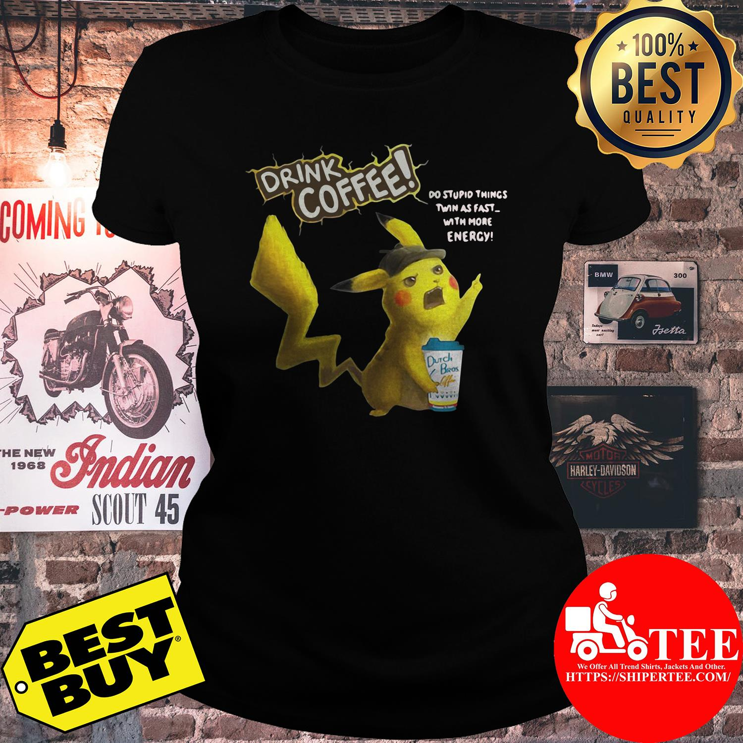 Drink coffee do stupid things twin as fast shirt