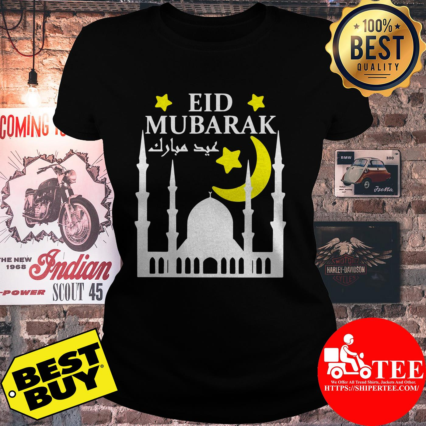 Eid Mubarak For Eid Al-Fitr Or Eid Al-Adha Happy Eid Day ladies tee