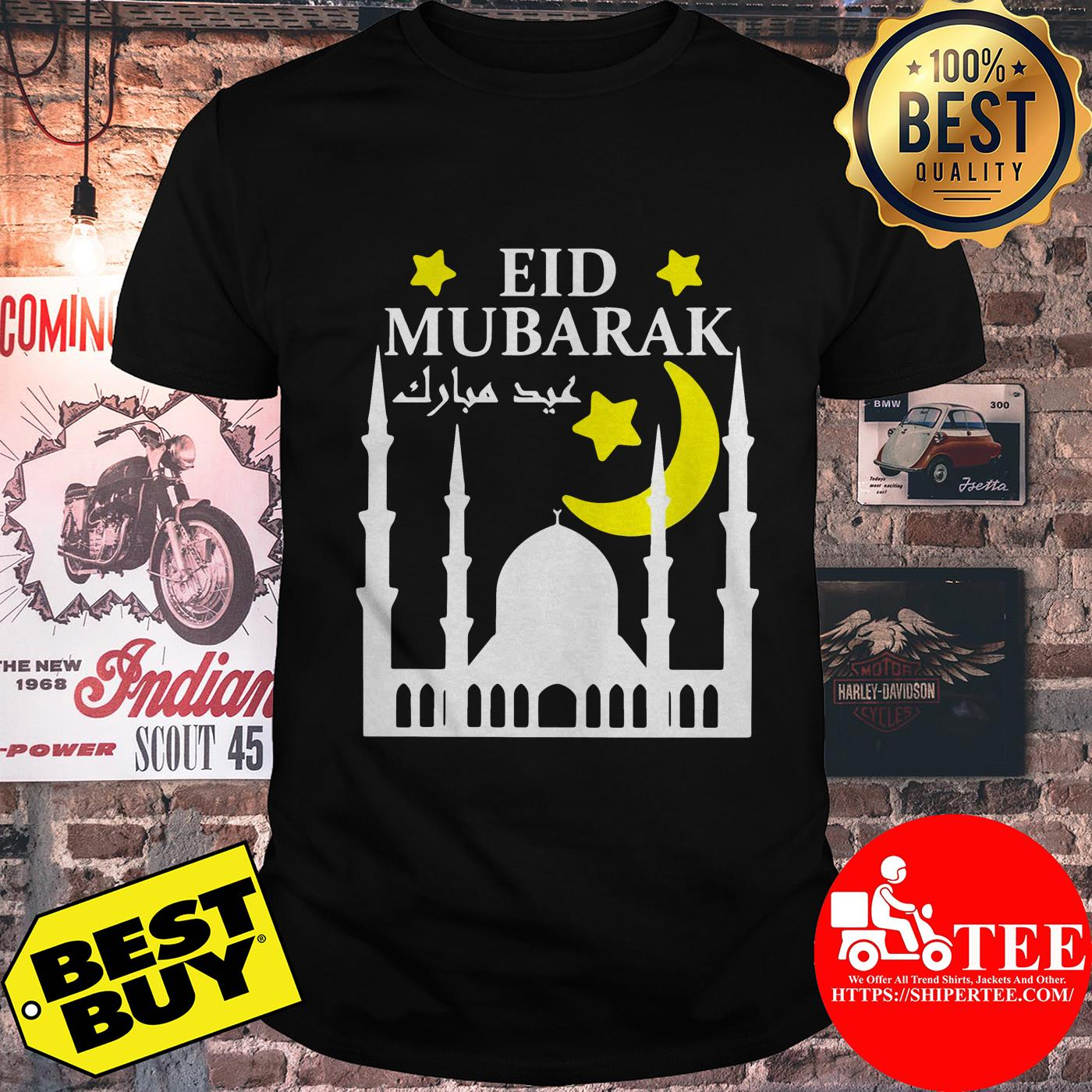 Eid Mubarak For Eid Al-Fitr Or Eid Al-Adha Happy Eid Day Shirt