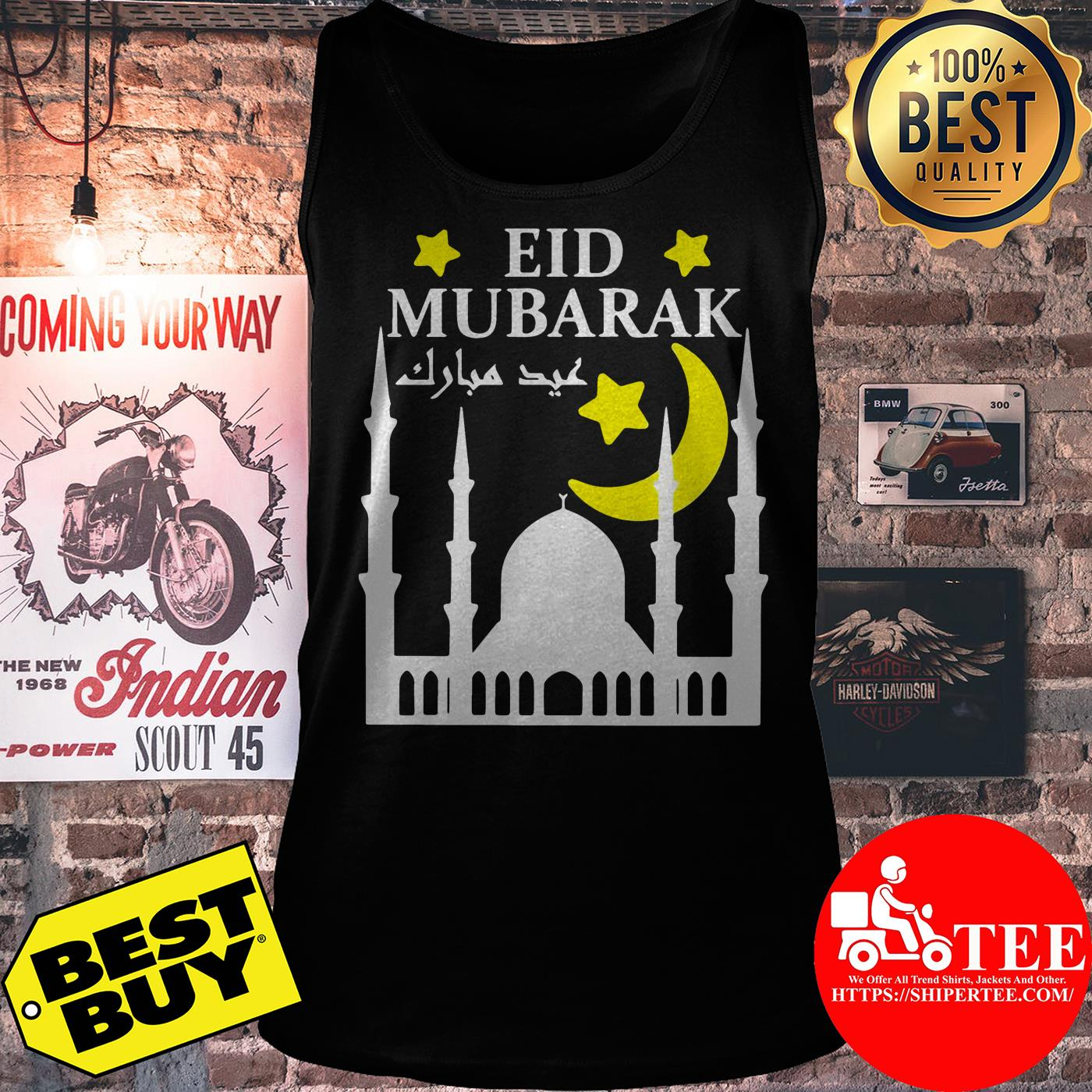 Eid Mubarak For Eid Al-Fitr Or Eid Al-Adha Happy Eid Day tank top