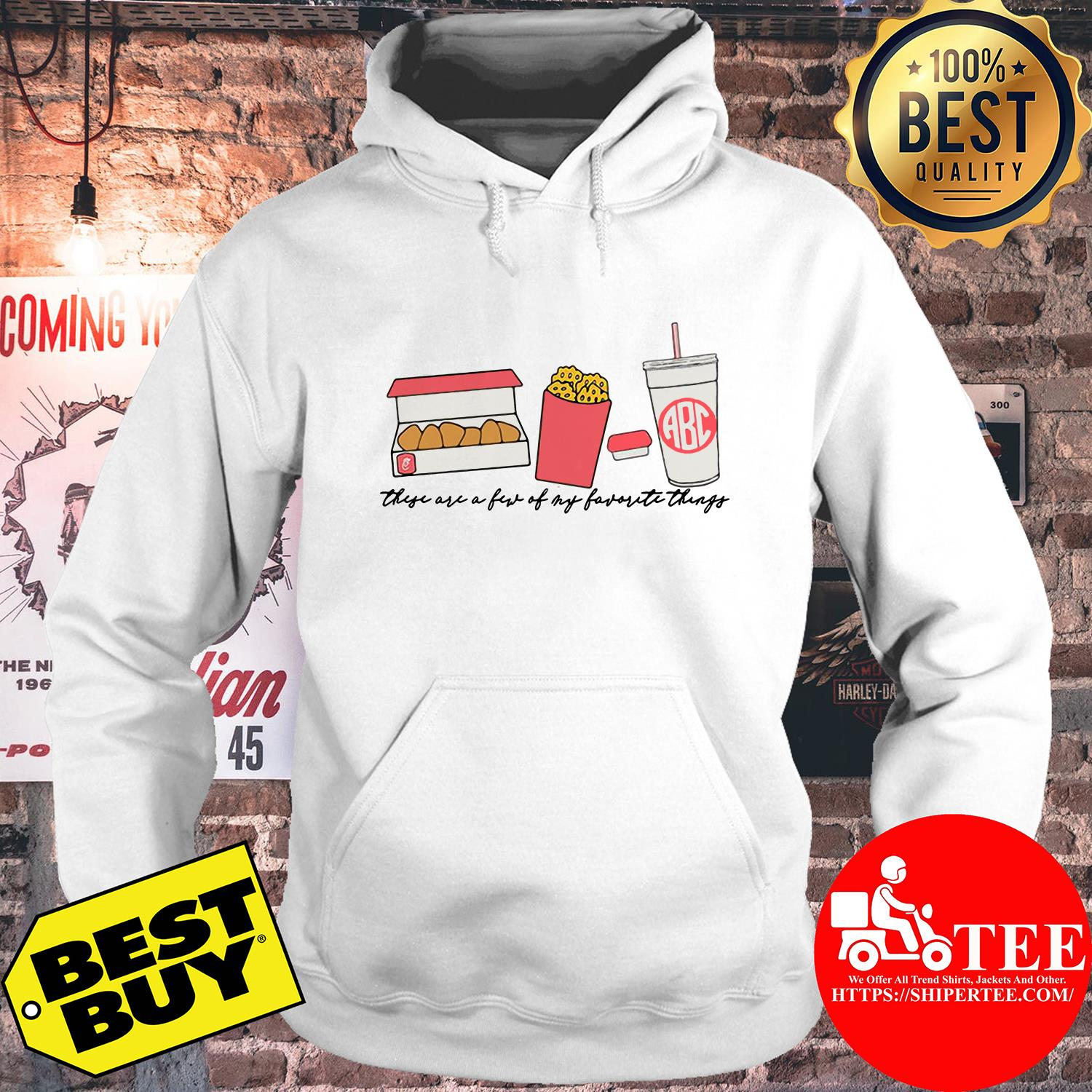 Fast food these are a few of my favorite things hoodie