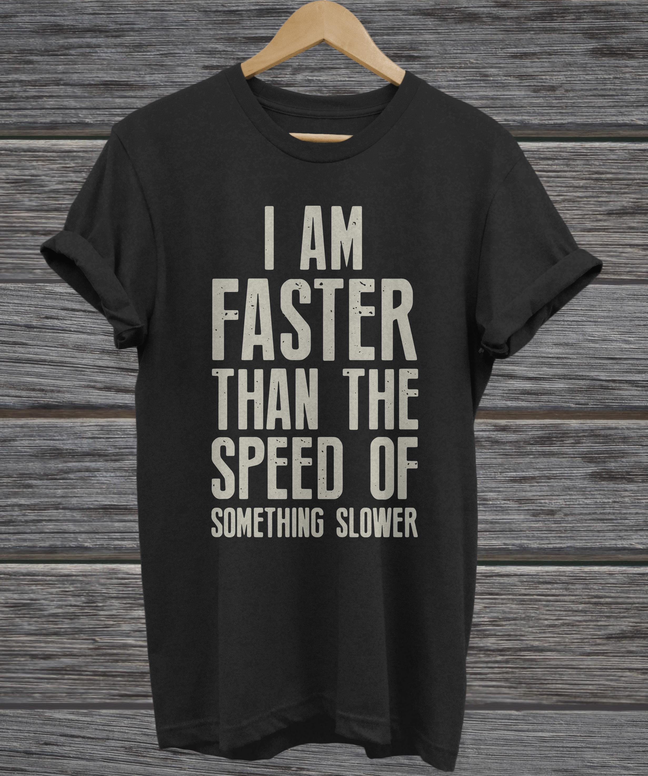 I am faster than the speed of something slower v-neck