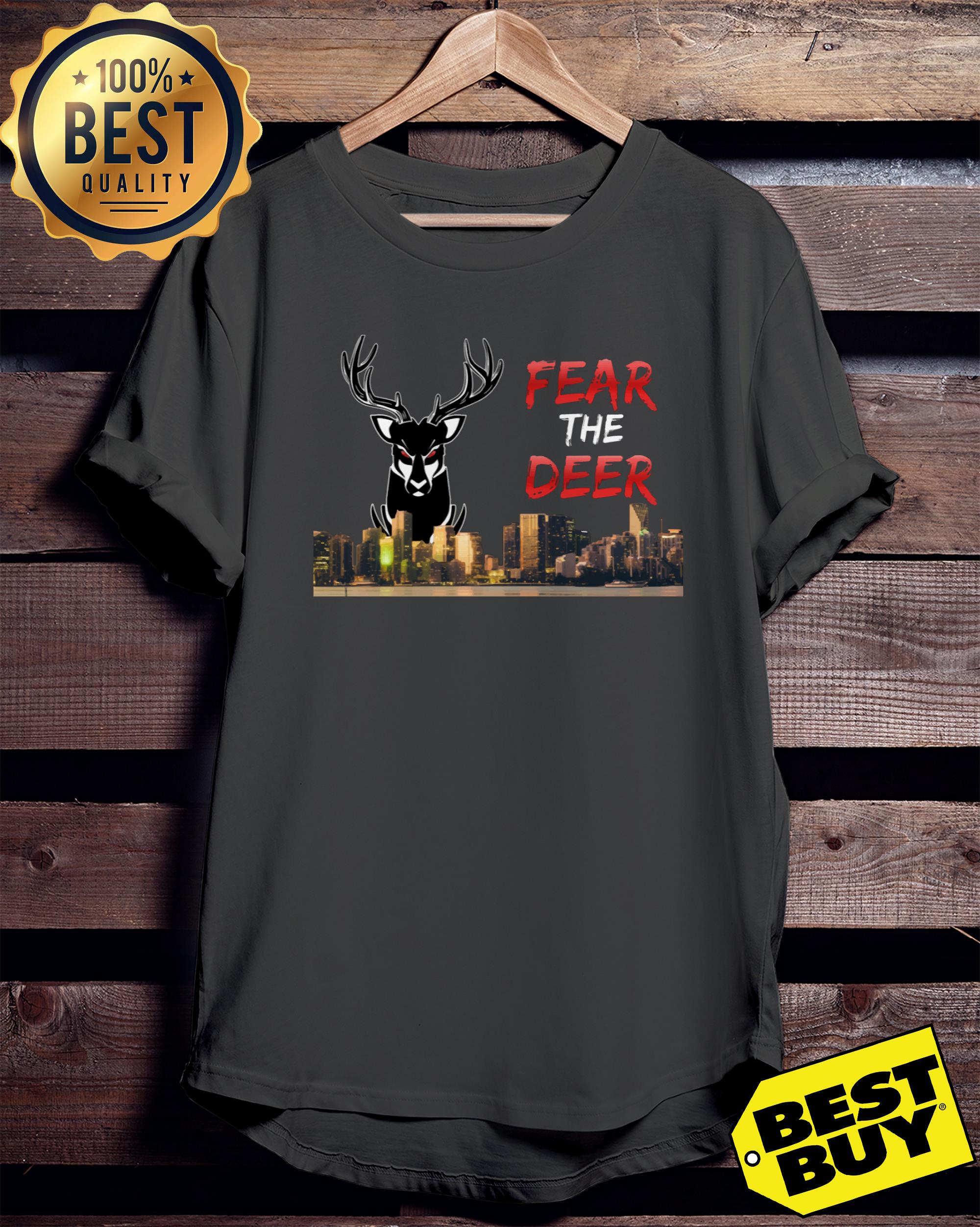 Fear the deer Milwaukee bucks ladies tee