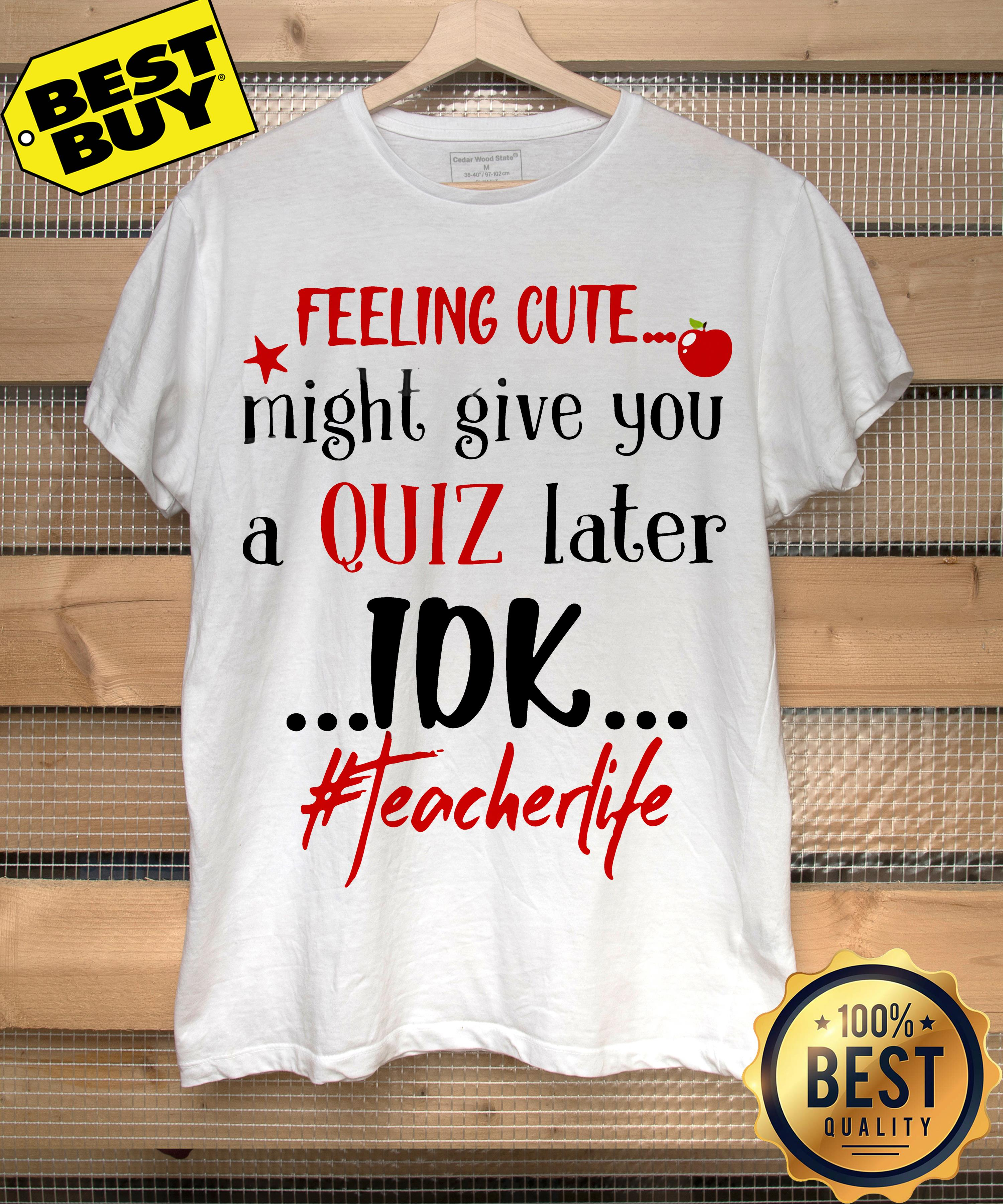 Feeling cute might give you a quiz later IDK #teacherlife ladies tee
