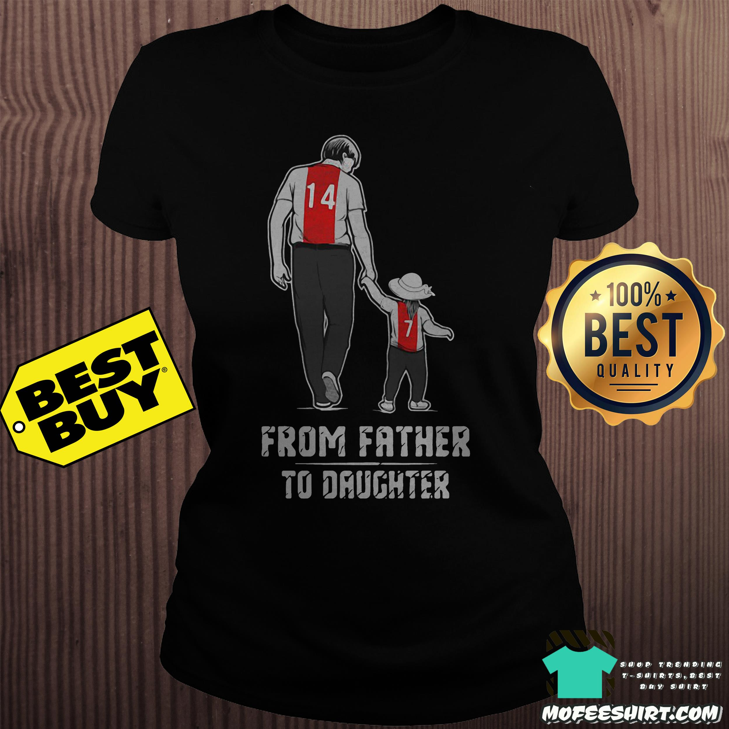 From father to daughter ladies tee