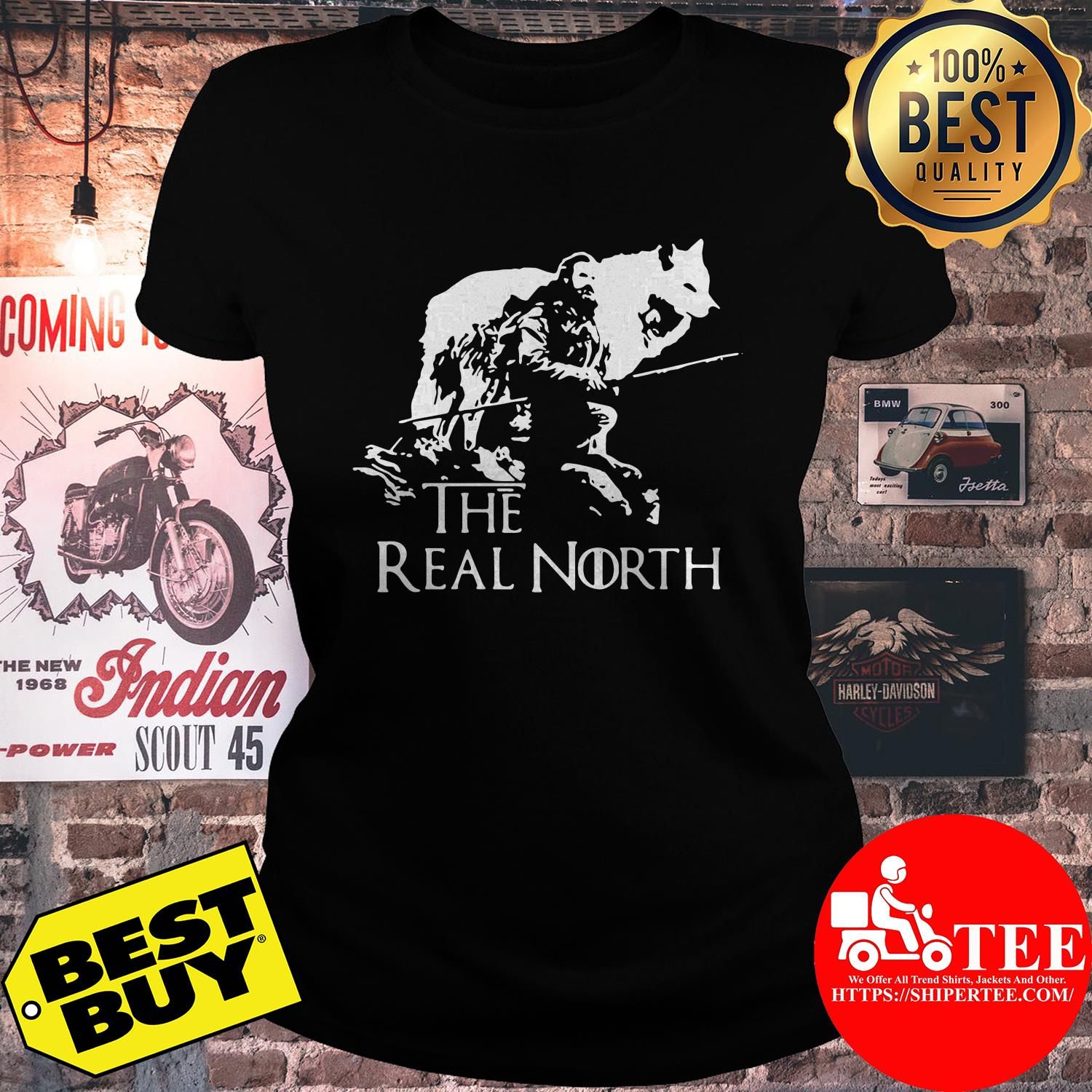 Game of Thrones the real north ladies tee