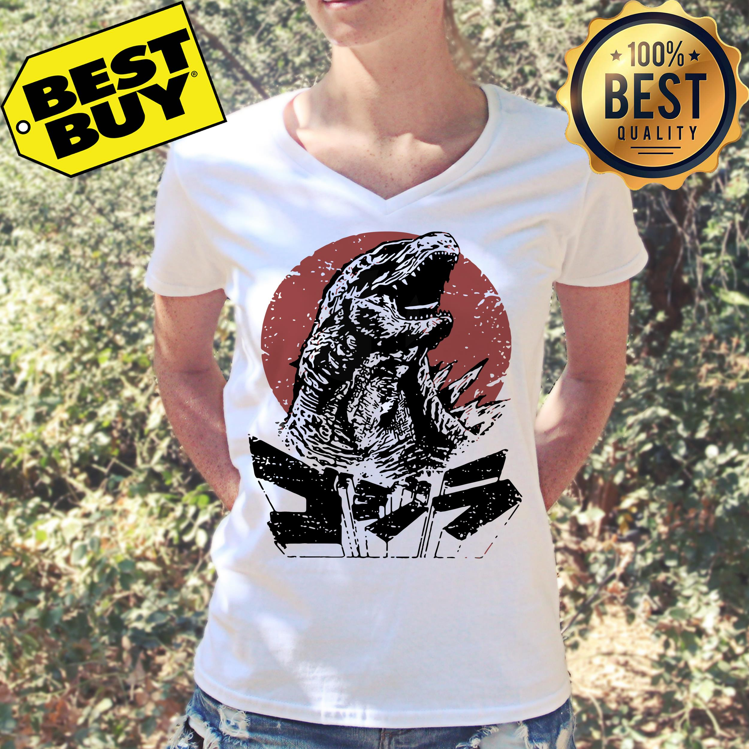 Godzilla King of the monsters v-neck