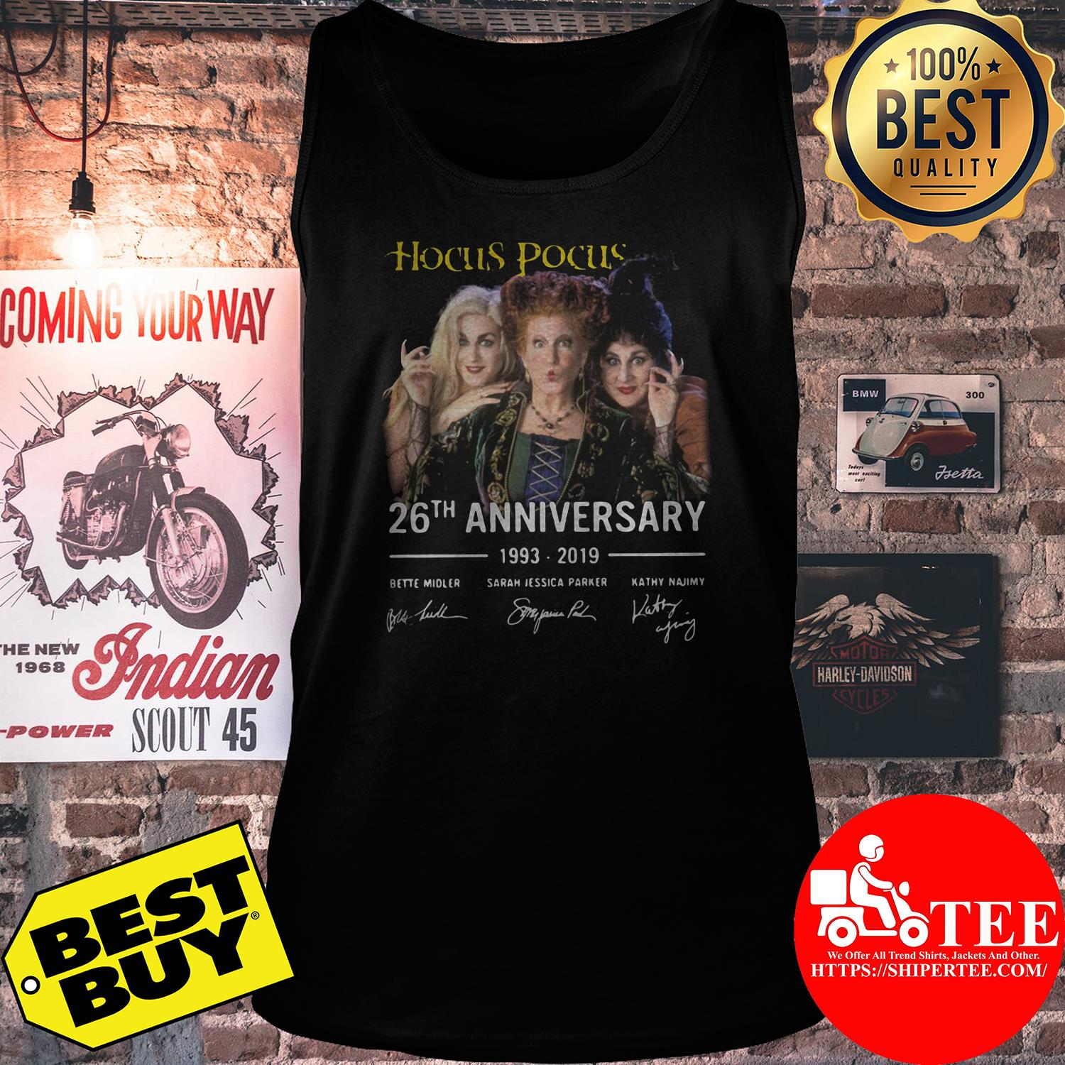 Hocus Pocus 26th anniversary 1993-2019 tank top