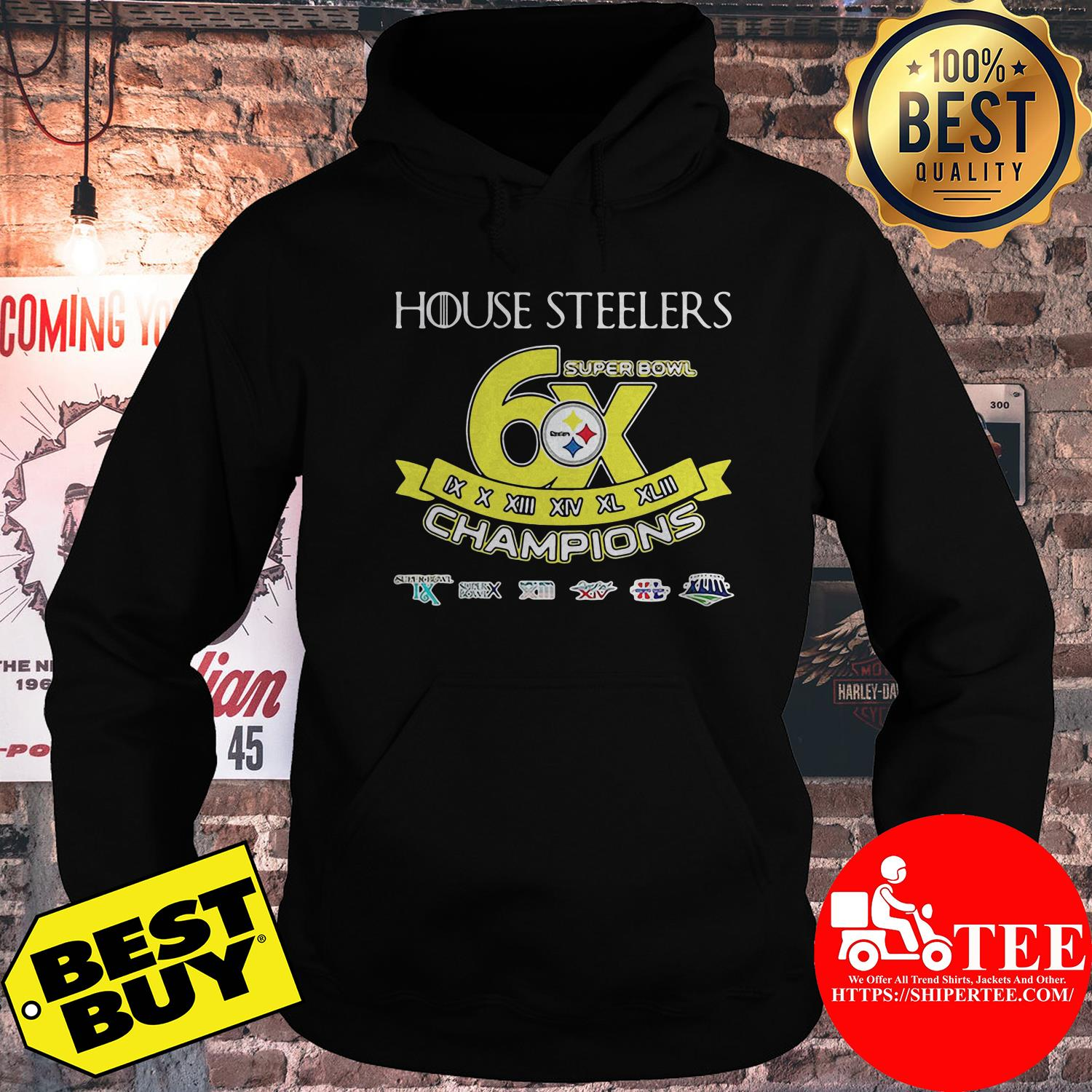 House Steelers super bowl champions hoodie