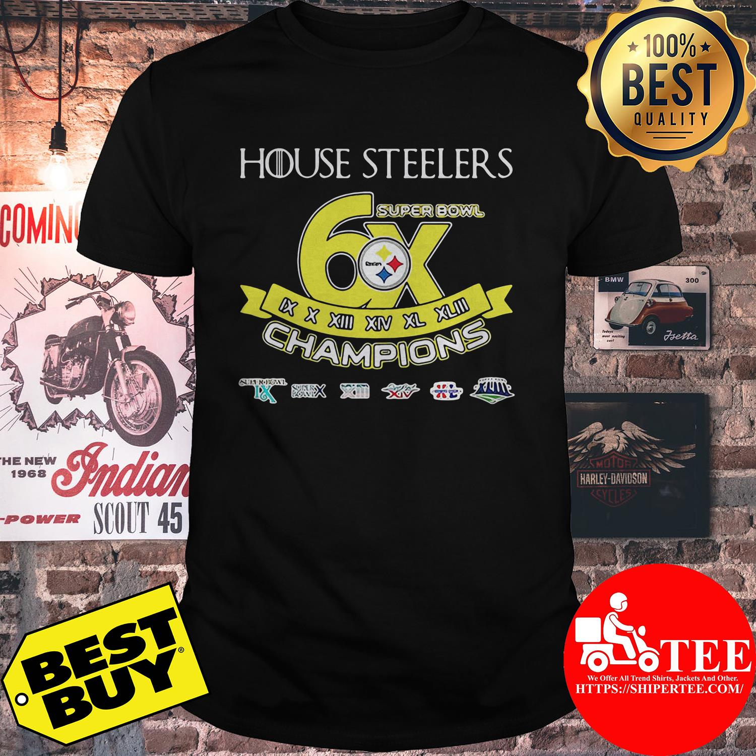 House Steelers super bowl champions shirt