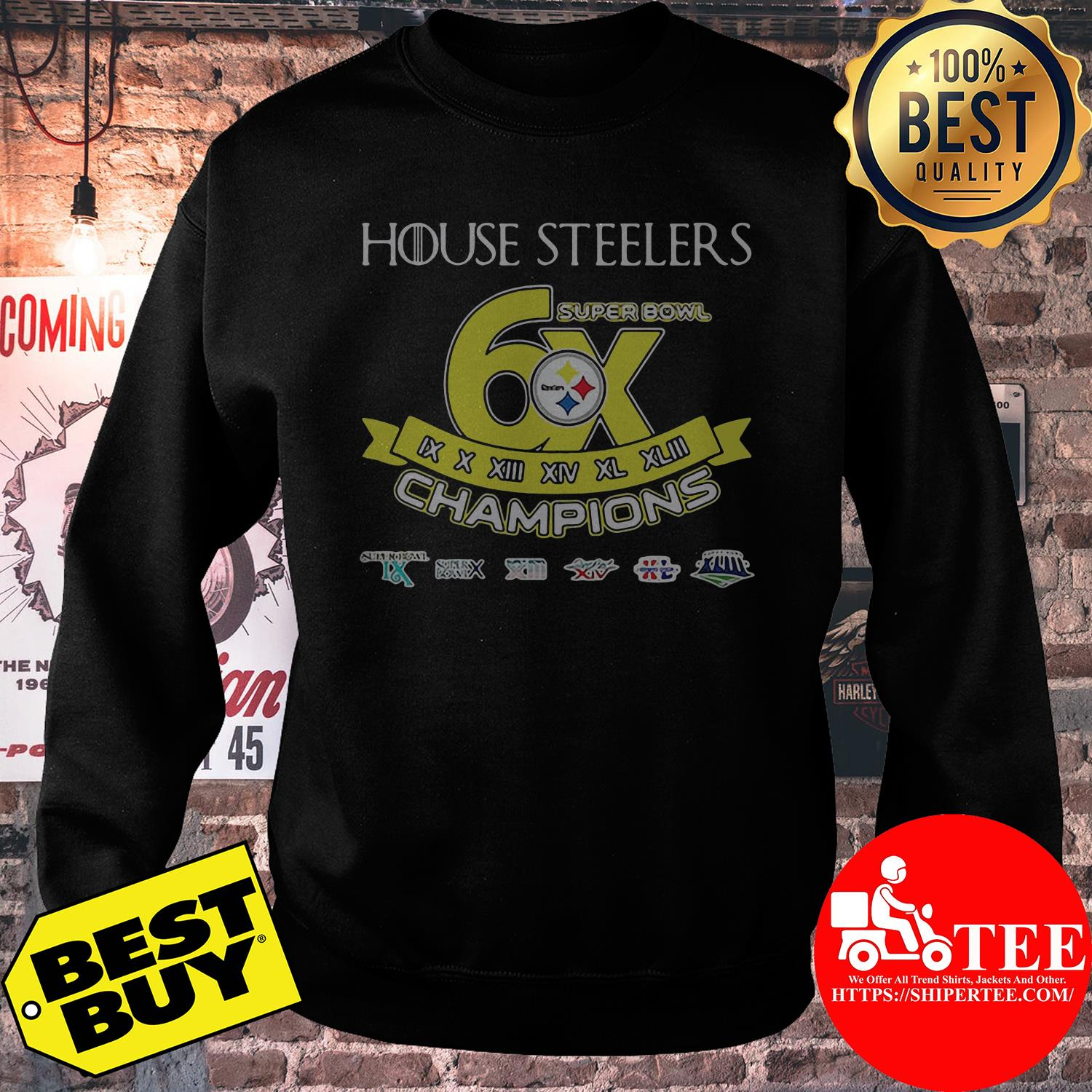 House Steelers super bowl champions sweatshirt
