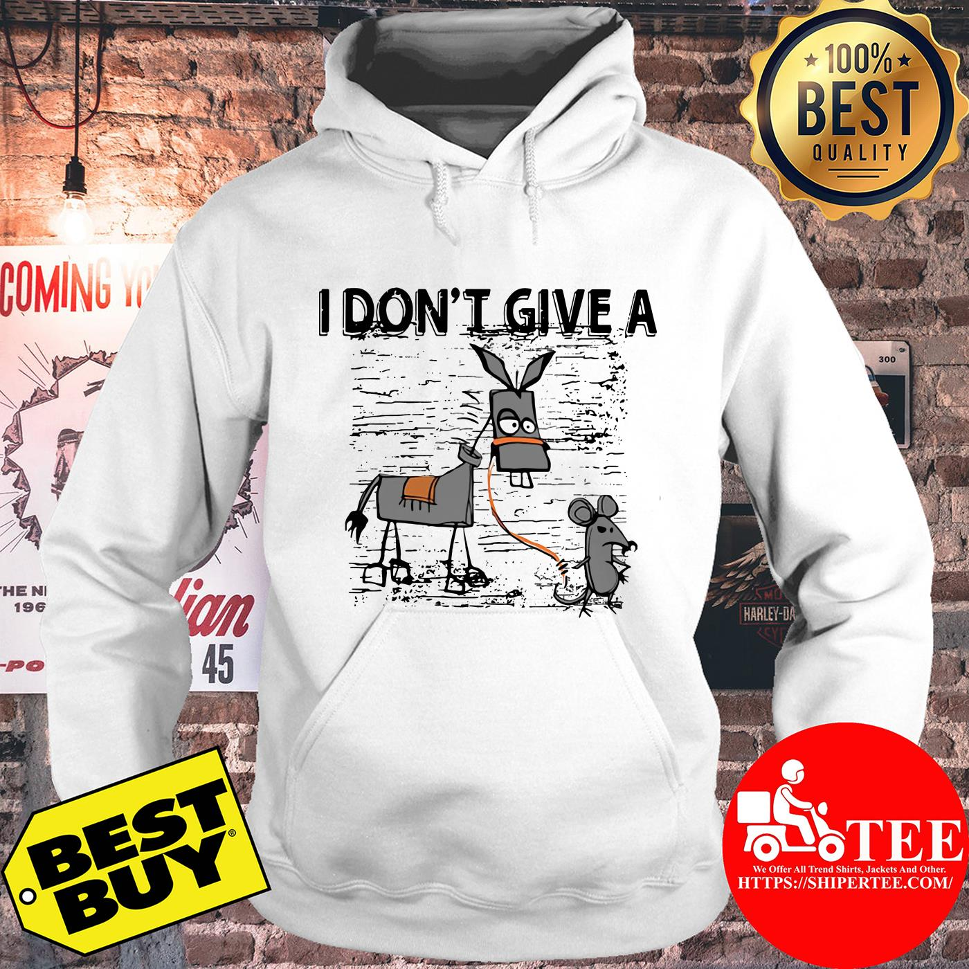 I Don't Give A Rats Ass Mouse Walking Donkey hoodie