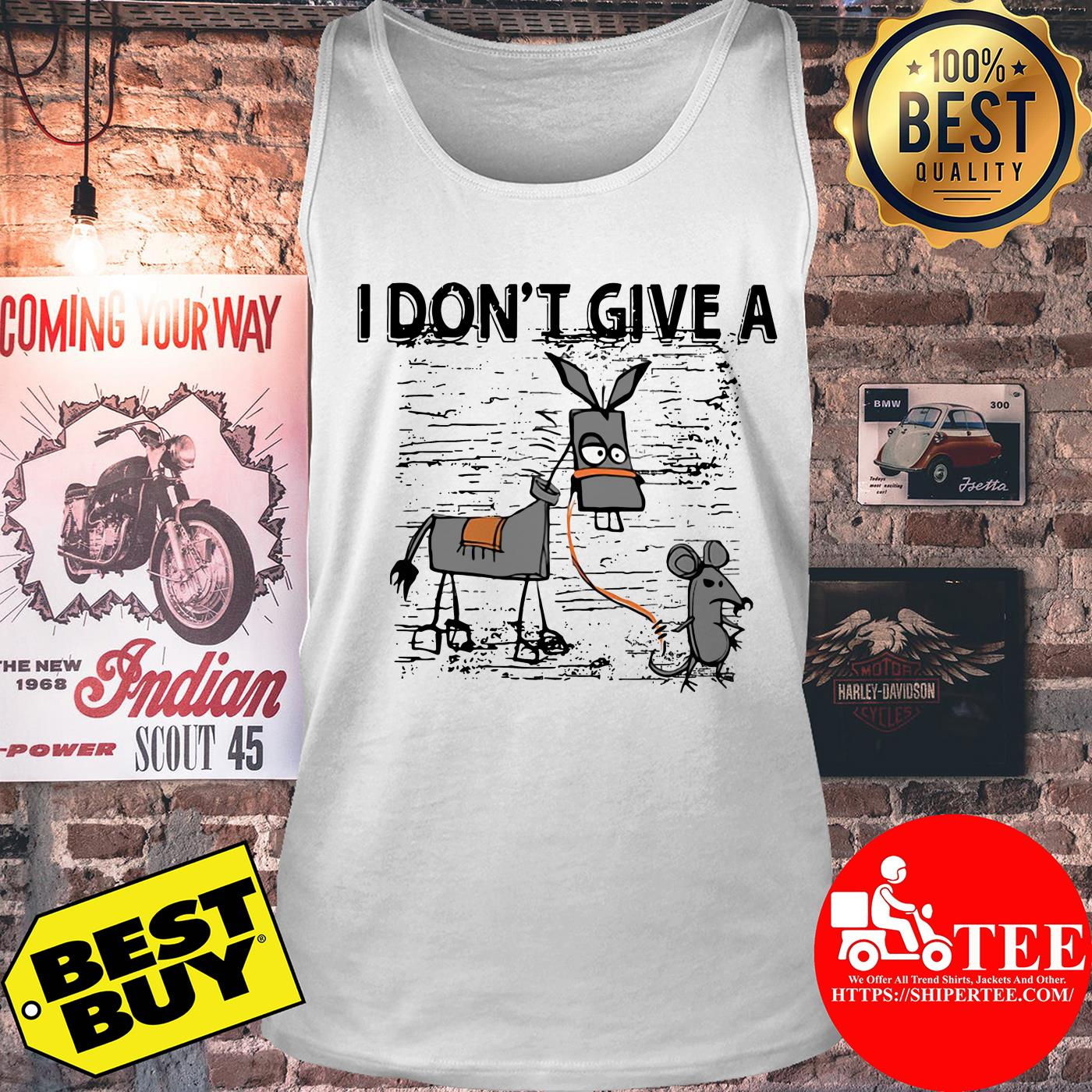 I Don't Give A Rats Ass Mouse Walking Donkey tank top