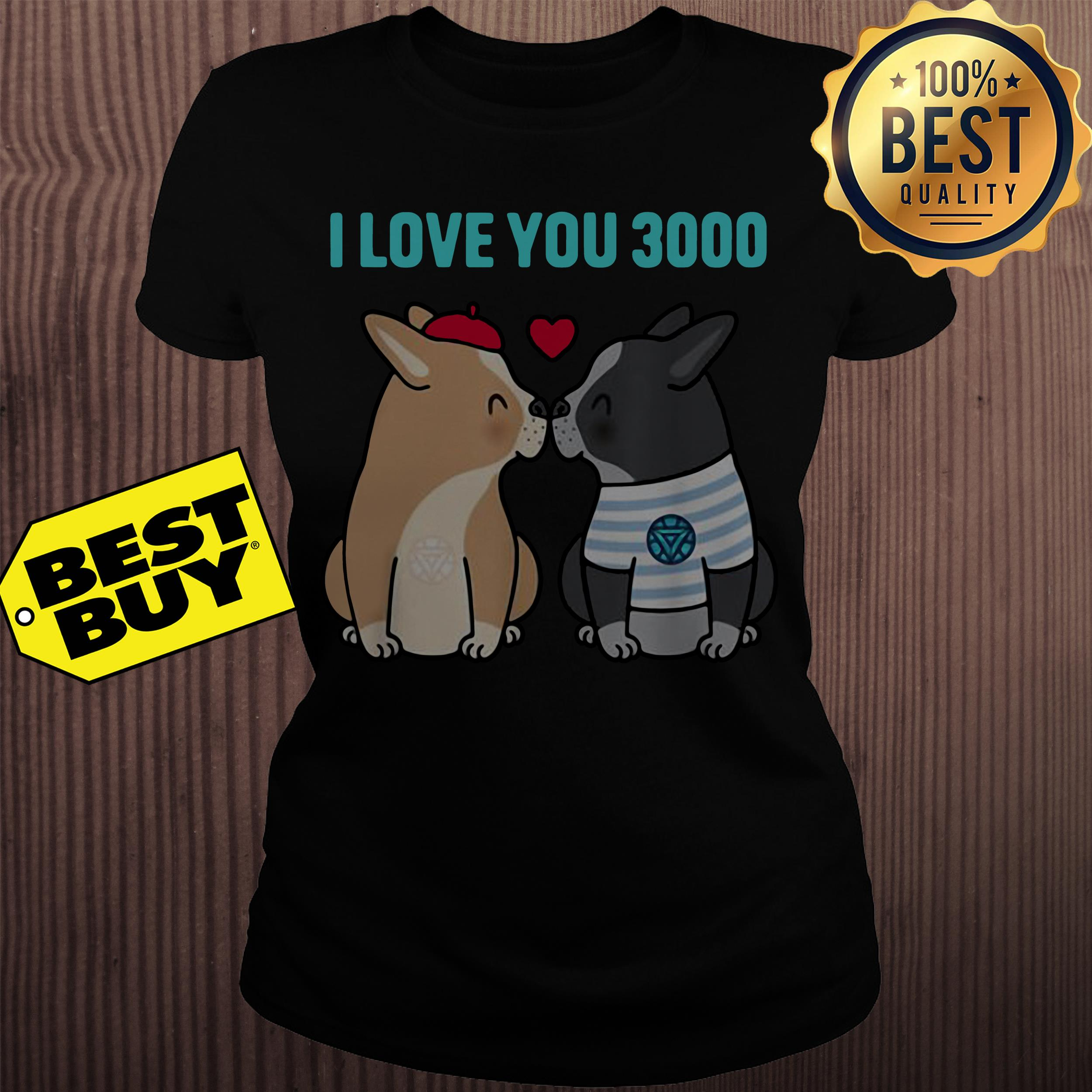 I love you 3000 Bulldog kiss ladies tee